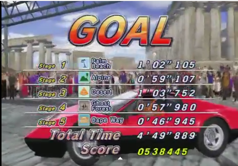 Outrun 2006: Coast to Coast: Outrun 2: Goal E 538,445 points