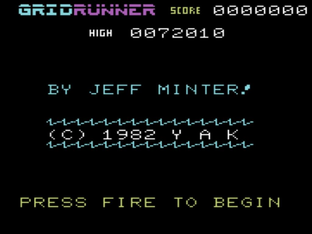 Gridrunner: VIC-20 mode 72,010 points