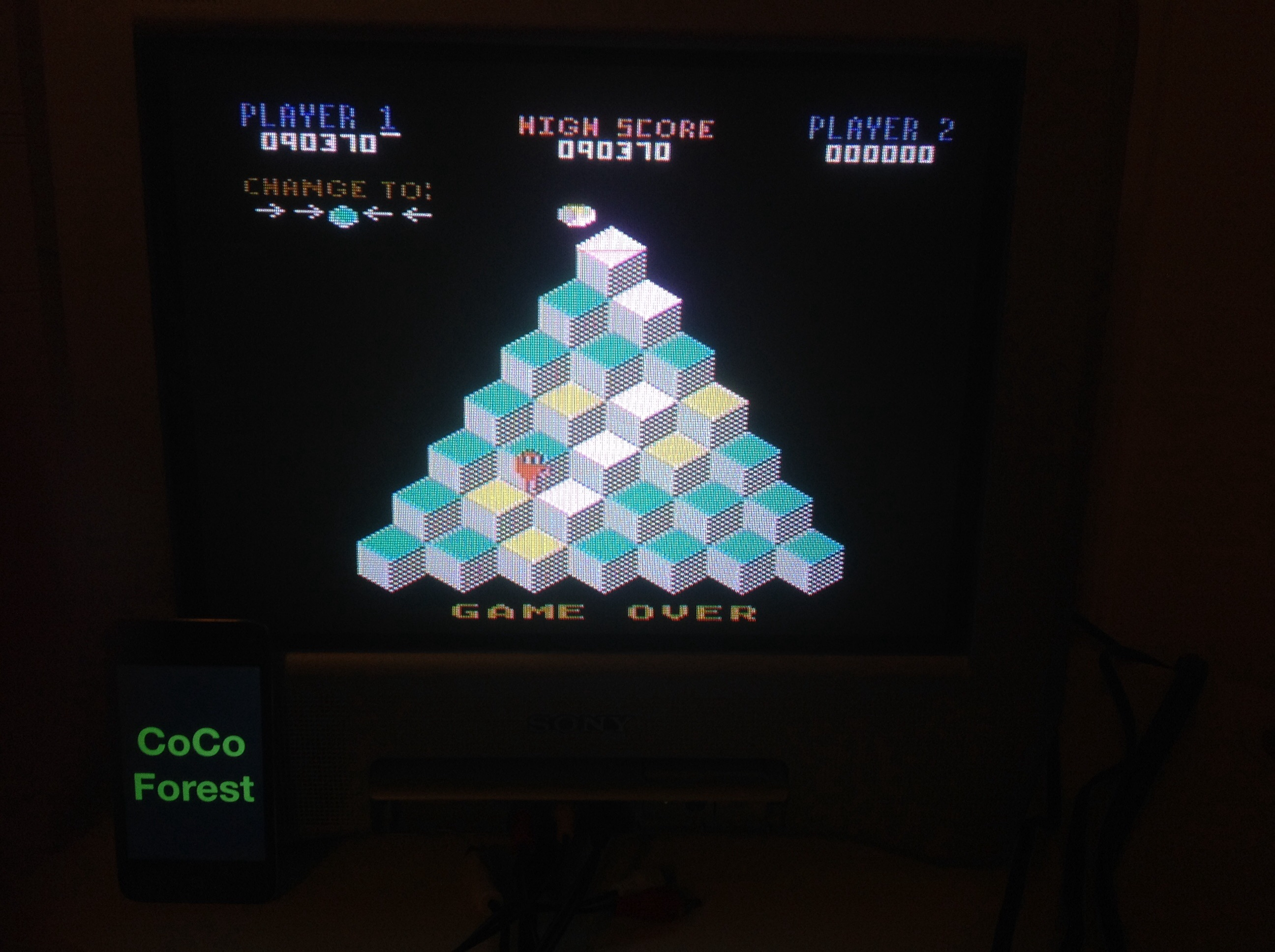 CoCoForest: Q*Bert: Game 1 (Atari 5200) 90,370 points on 2014-11-02 13:28:50