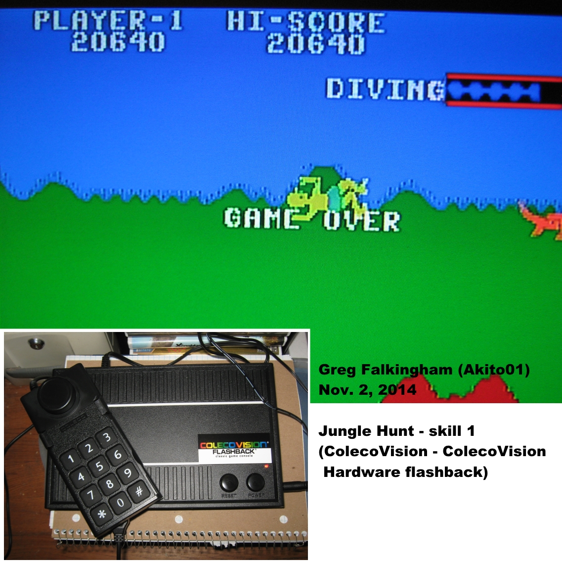 Akito01: Jungle Hunt (Colecovision Flashback) 20,640 points on 2014-11-02 16:06:04