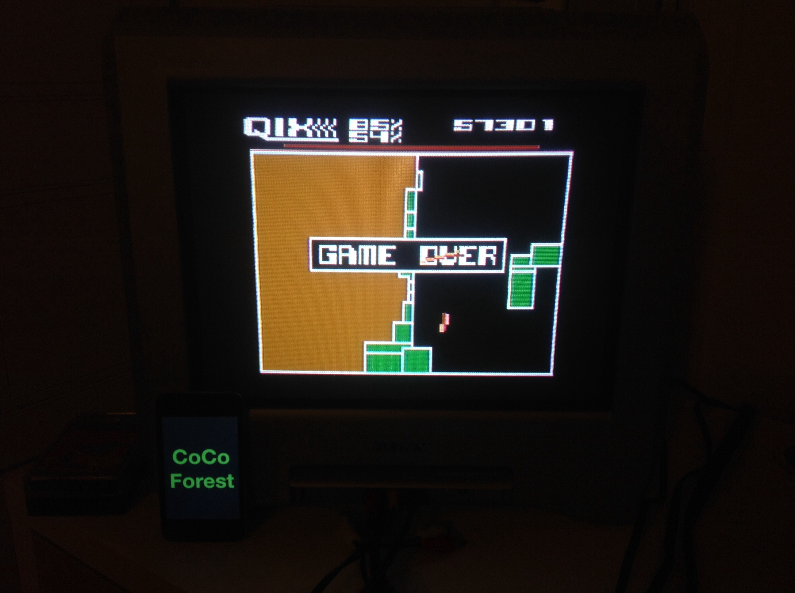 CoCoForest: Qix: Expert (Atari 5200) 57,301 points on 2014-11-03 12:51:51