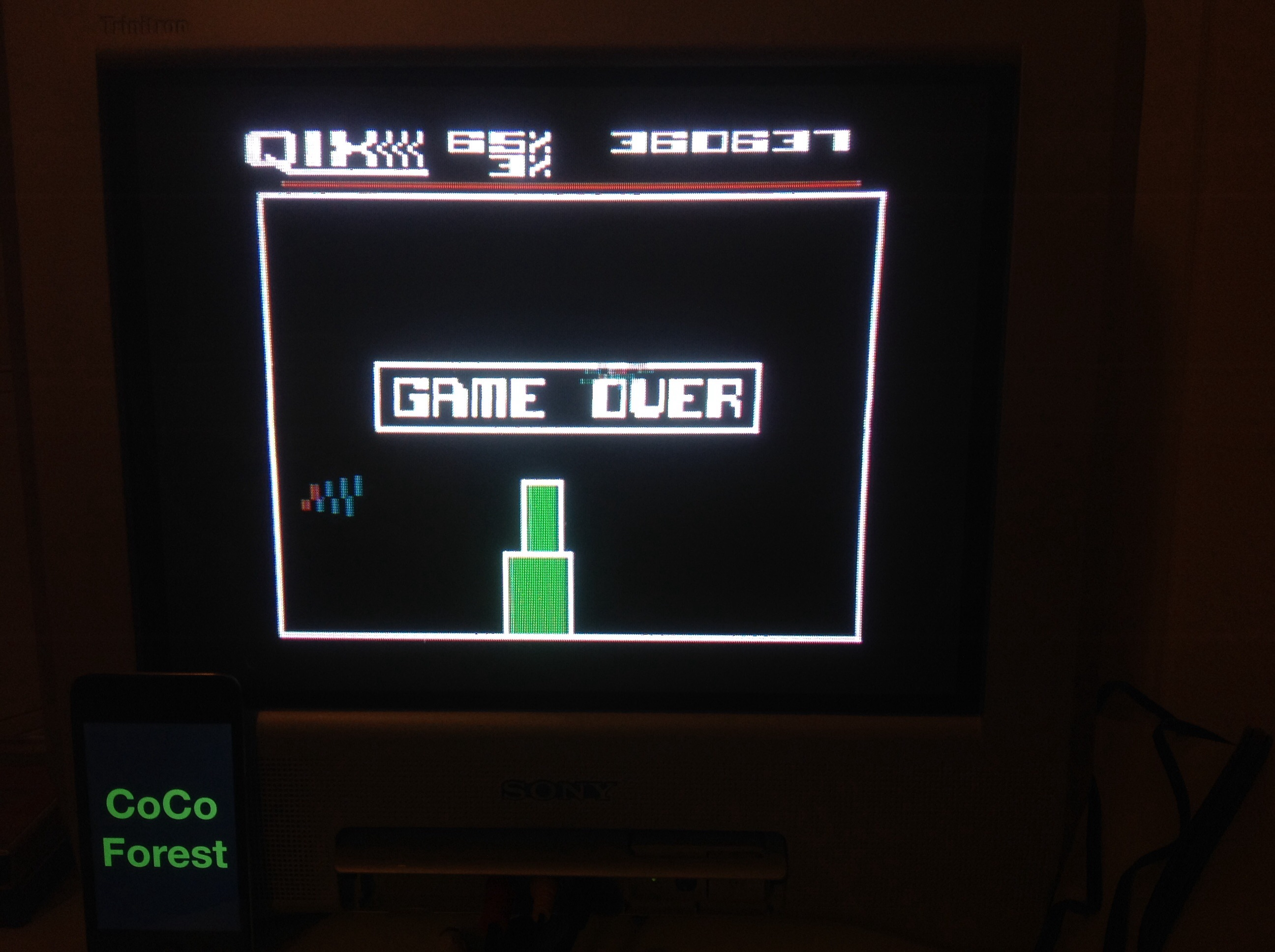 CoCoForest: Qix: Skilled (Atari 5200) 360,637 points on 2014-11-03 13:26:43