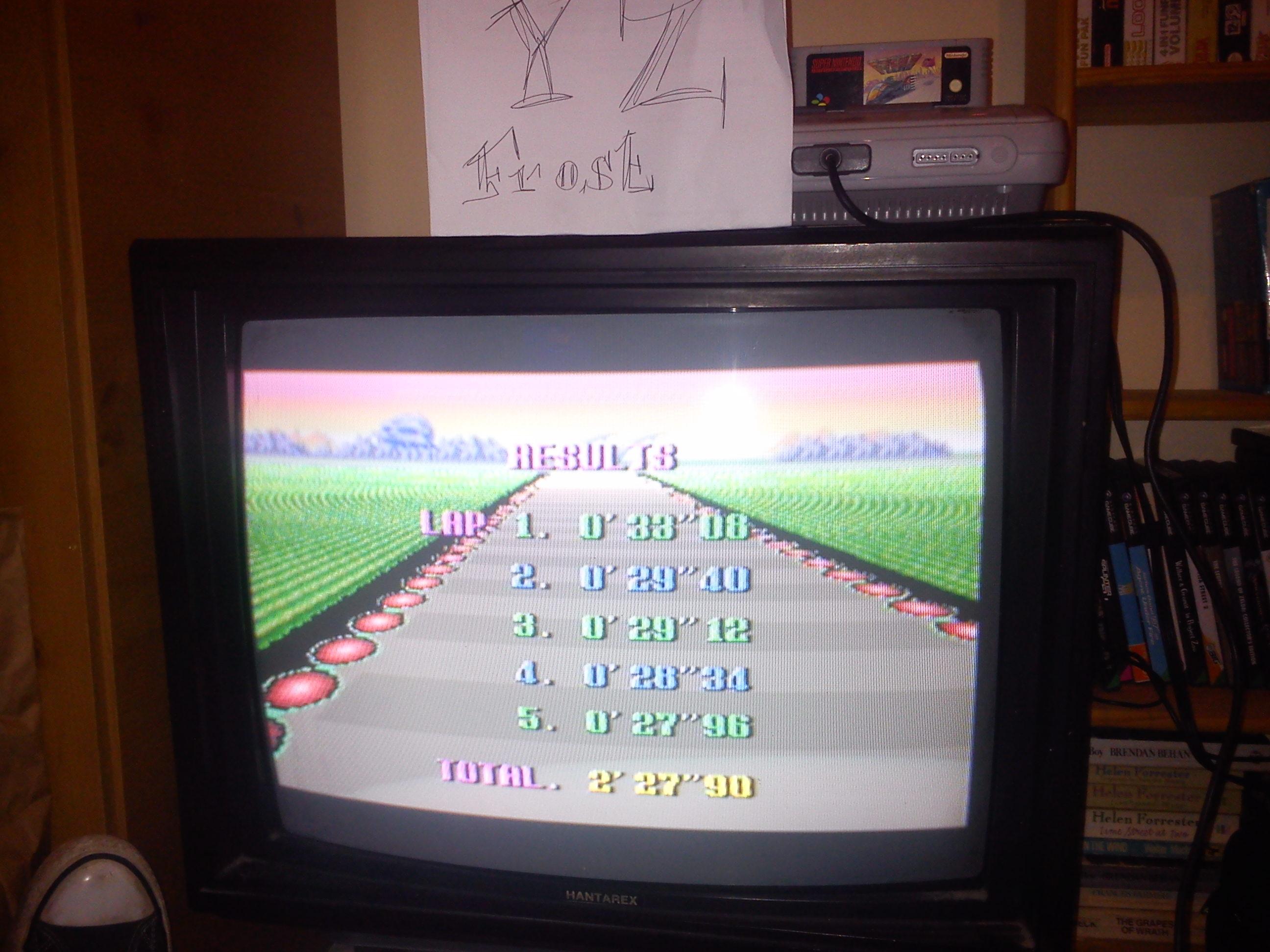 Fr0st: F-Zero: Death Wind I [Beginner] (SNES/Super Famicom) 0:02:27.9 points on 2014-11-03 17:24:36