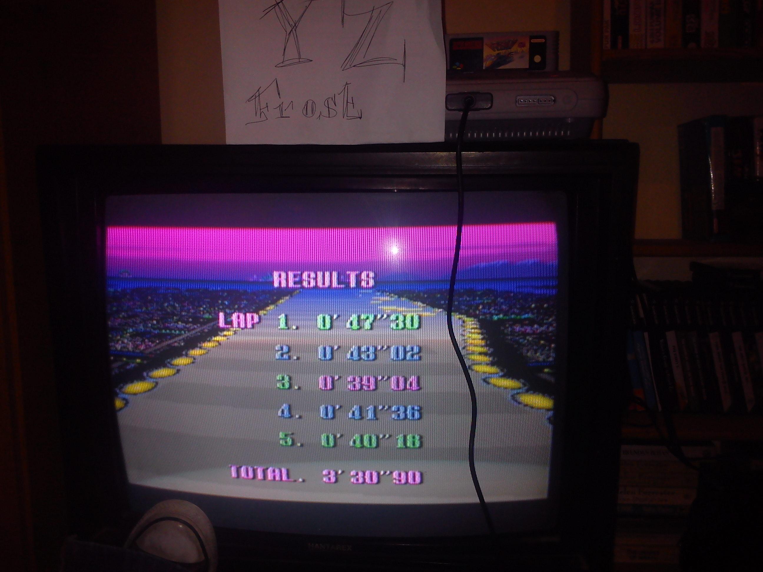 Fr0st: F-Zero: Port Town II [Beginner] (SNES/Super Famicom) 0:03:30.9 points on 2014-11-03 18:01:35