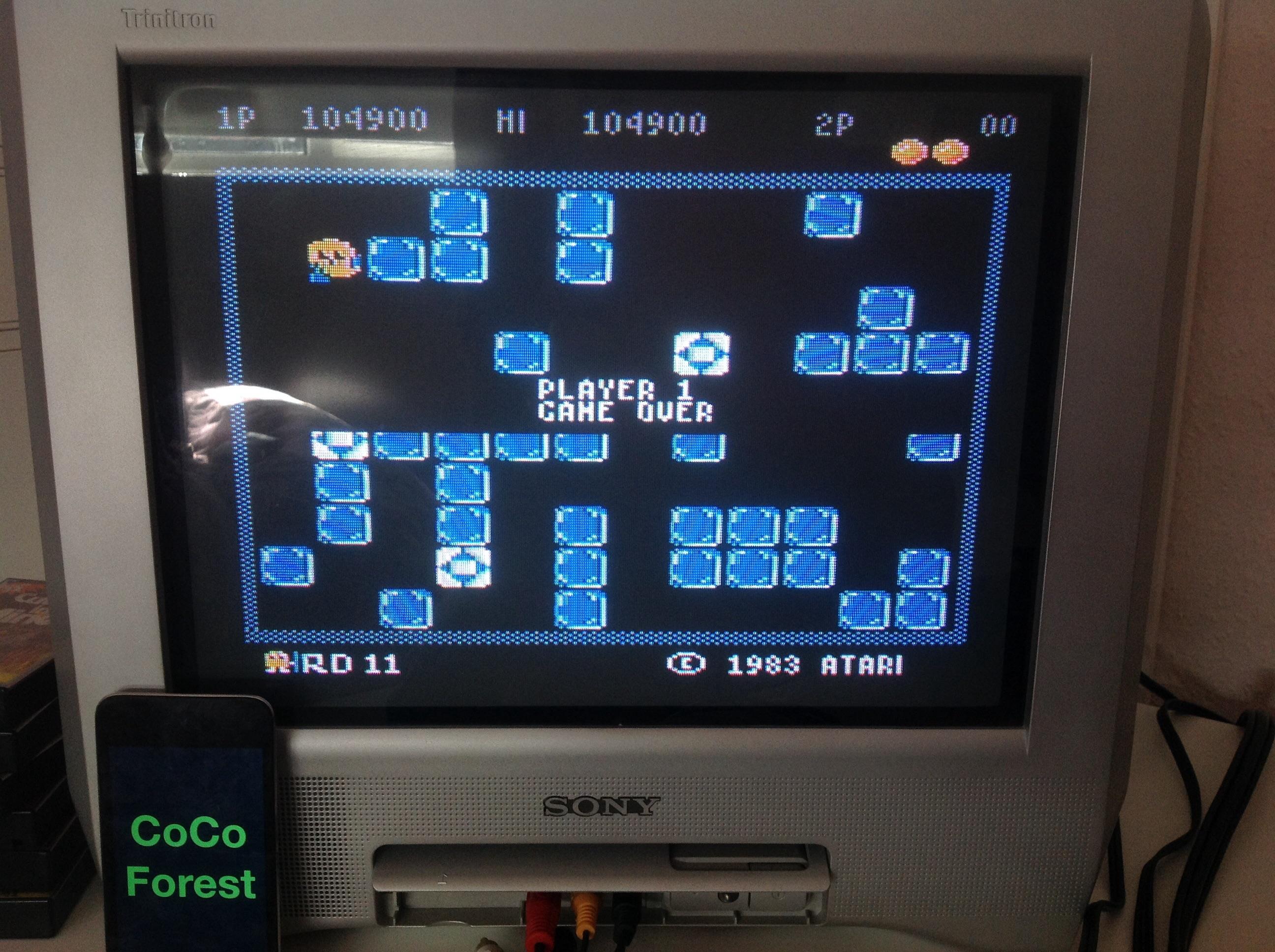 CoCoForest: Pengo: Intermediate (Atari 5200) 104,900 points on 2014-11-04 06:56:02