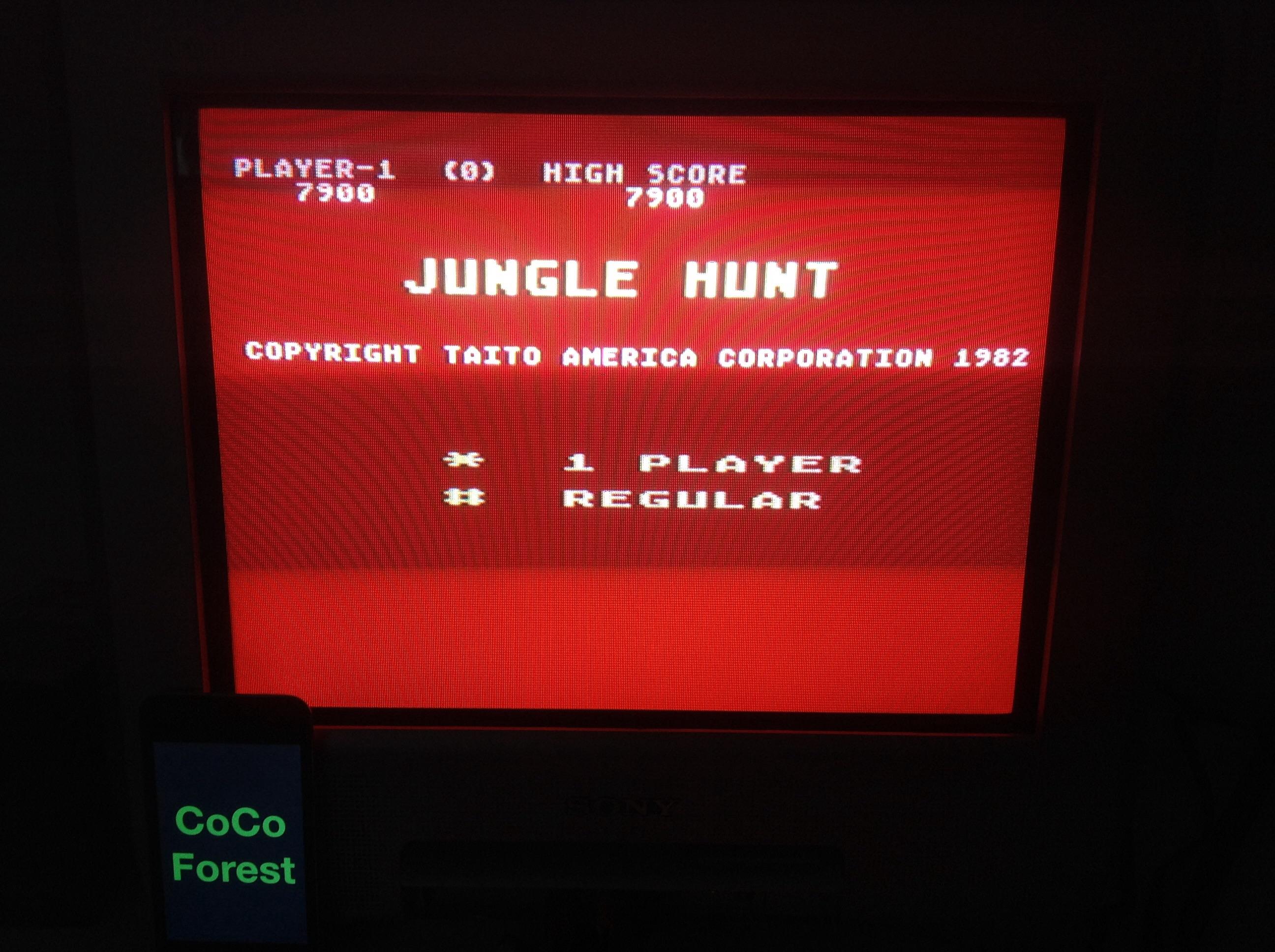 CoCoForest: Jungle Hunt: Medium (Atari 5200) 7,900 points on 2014-11-04 09:11:20