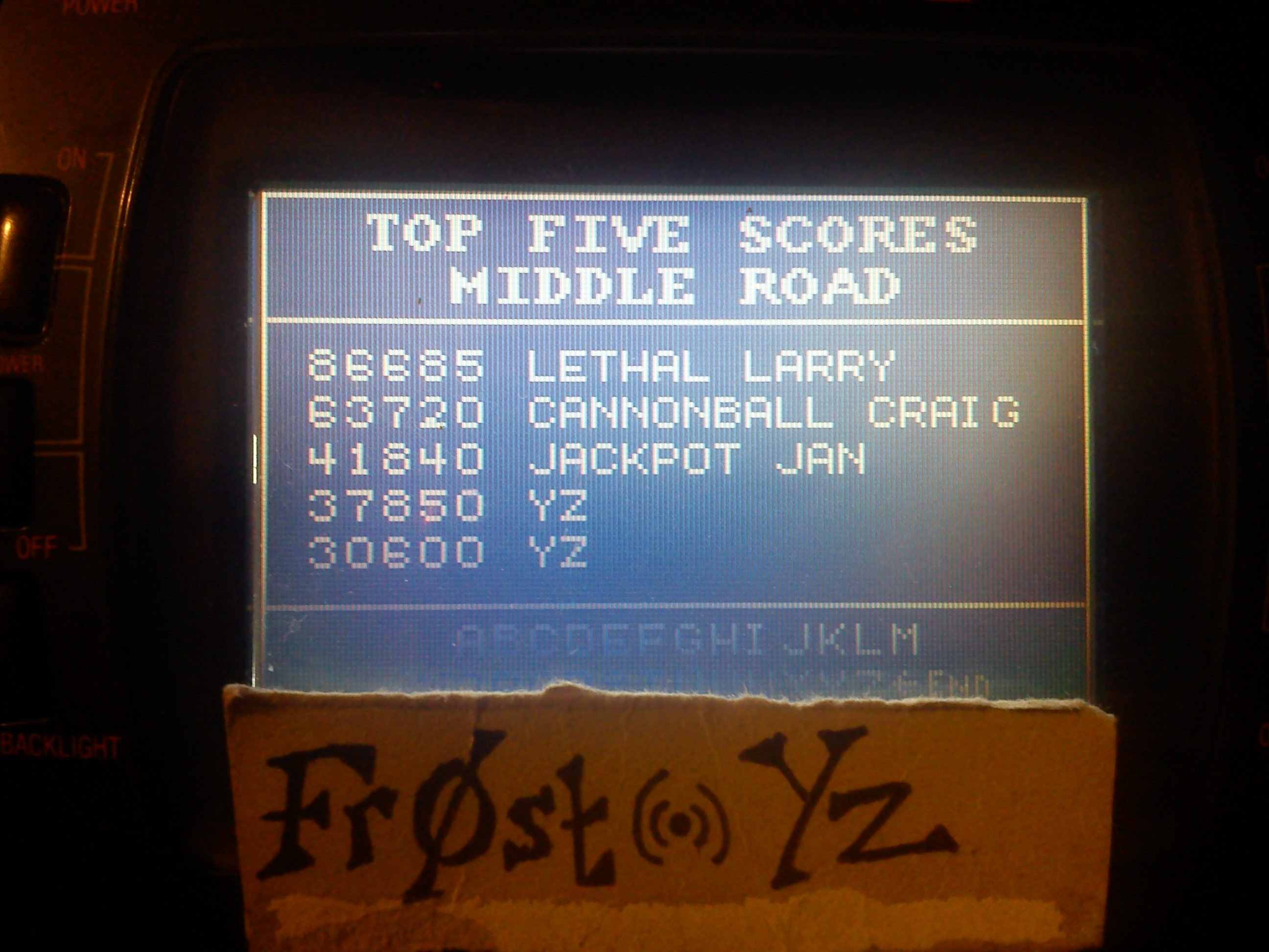 Fr0st: Paperboy: Middle Road (Atari Lynx) 37,850 points on 2014-11-04 13:58:10