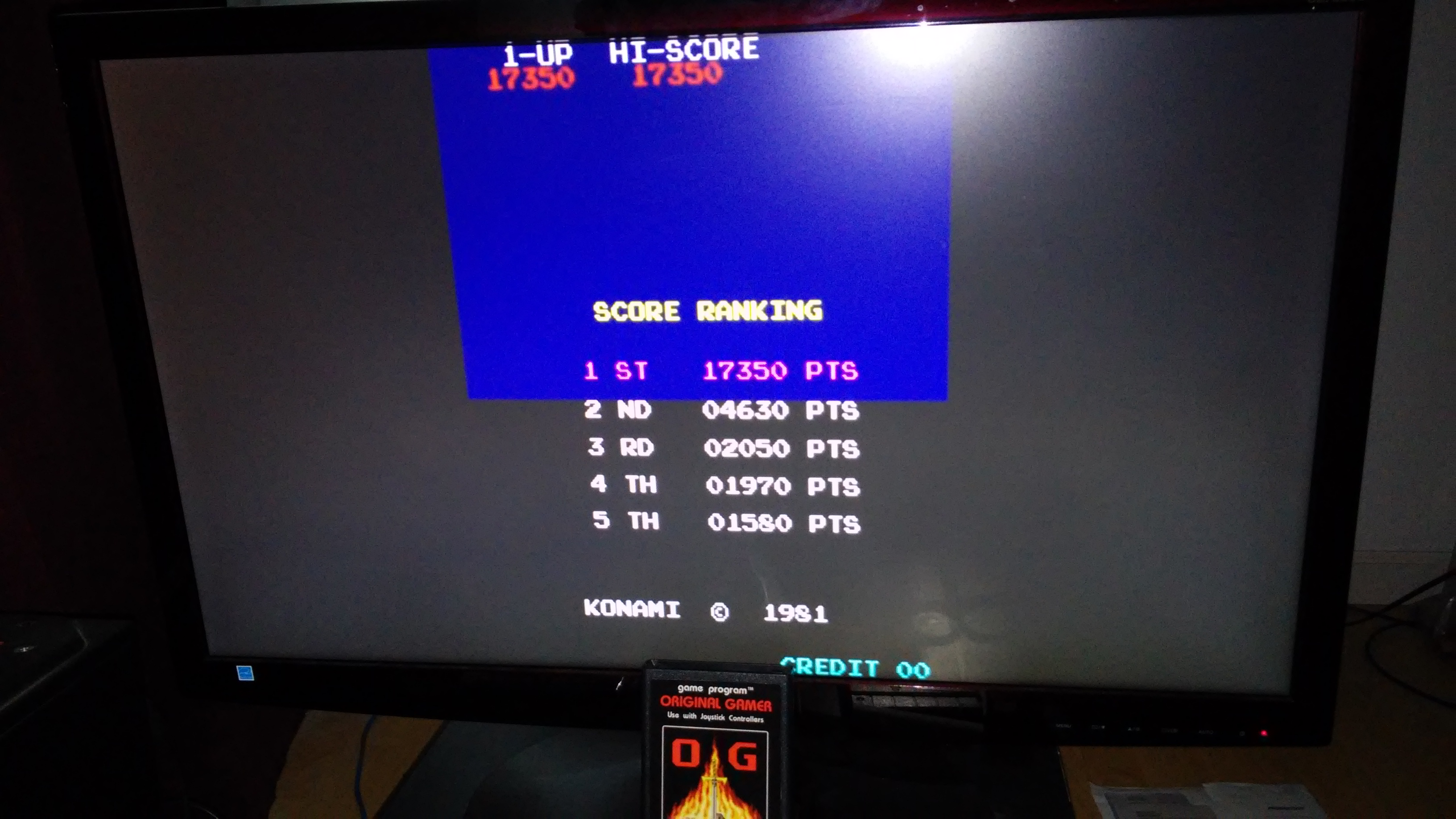 Frogger 17,350 points