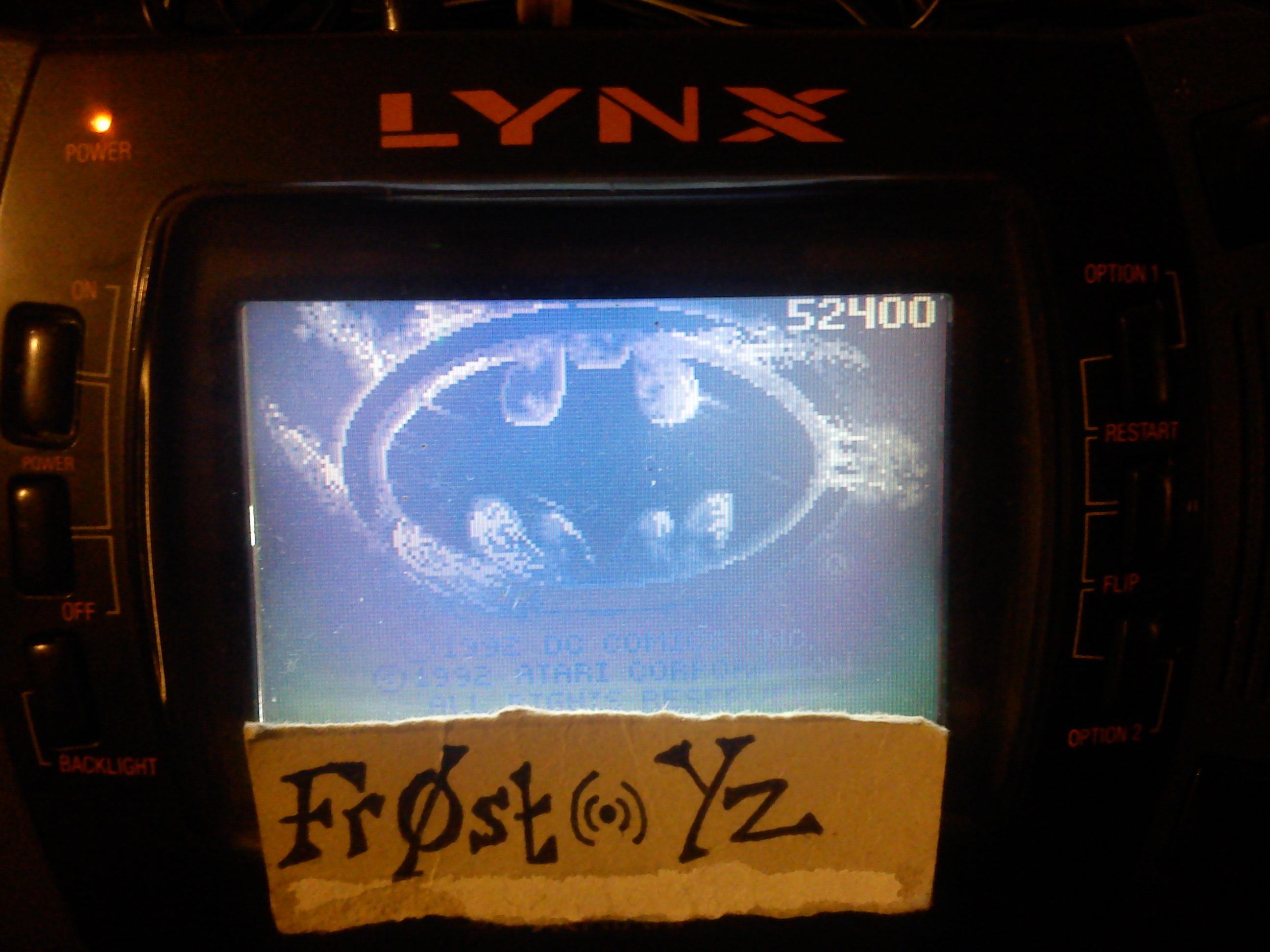 Fr0st: Batman Returns (Atari Lynx) 52,400 points on 2014-11-05 13:11:59