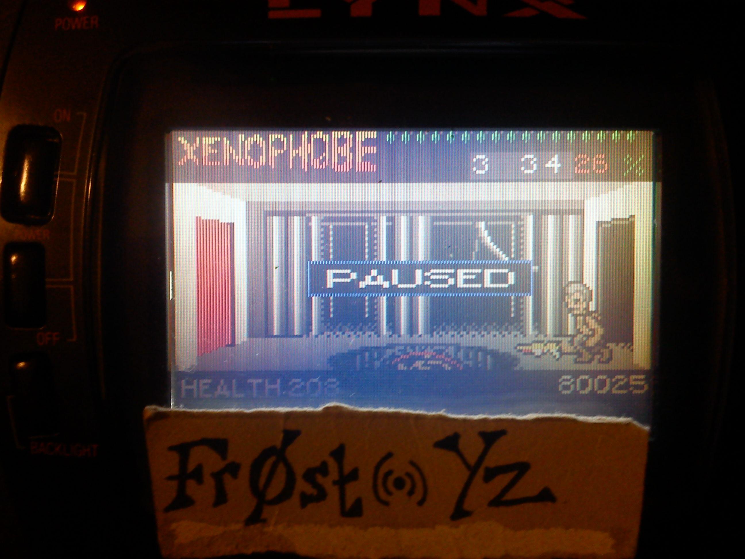 Fr0st: Xenophobe (Atari Lynx) 80,025 points on 2014-11-05 13:58:15
