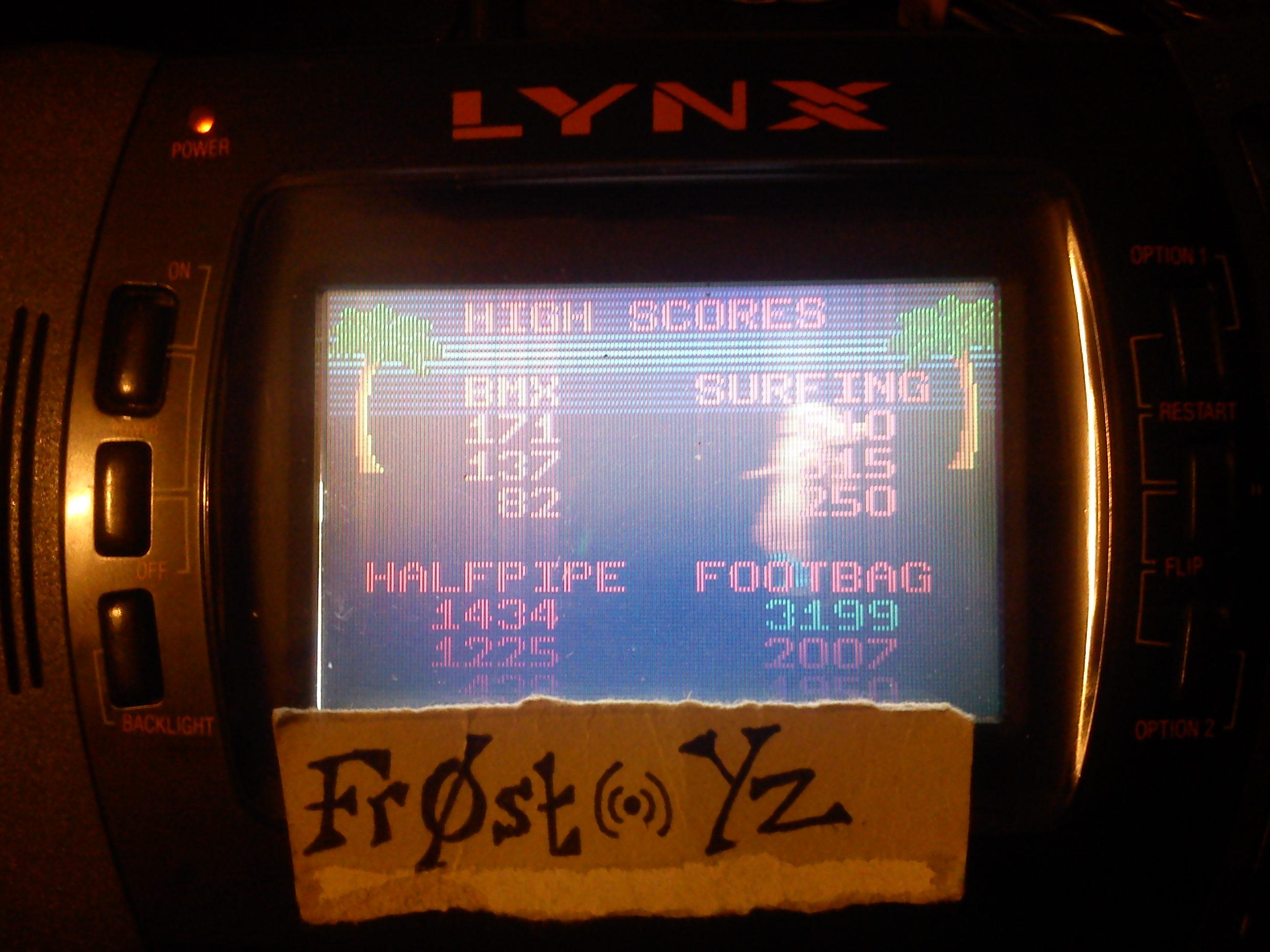 Fr0st: California Games: Footbag (Atari Lynx) 3,199 points on 2014-11-05 17:11:54