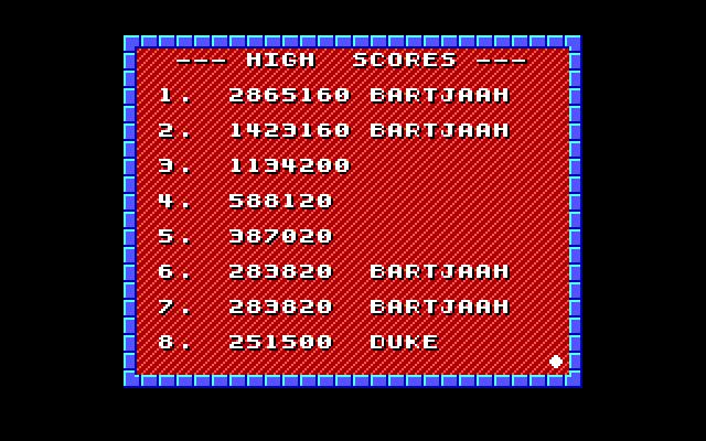 Bartjaah: Duke Nukem Episode 1 (PC Emulated / DOSBox) 2,865,160 points on 2014-11-05 17:59:14
