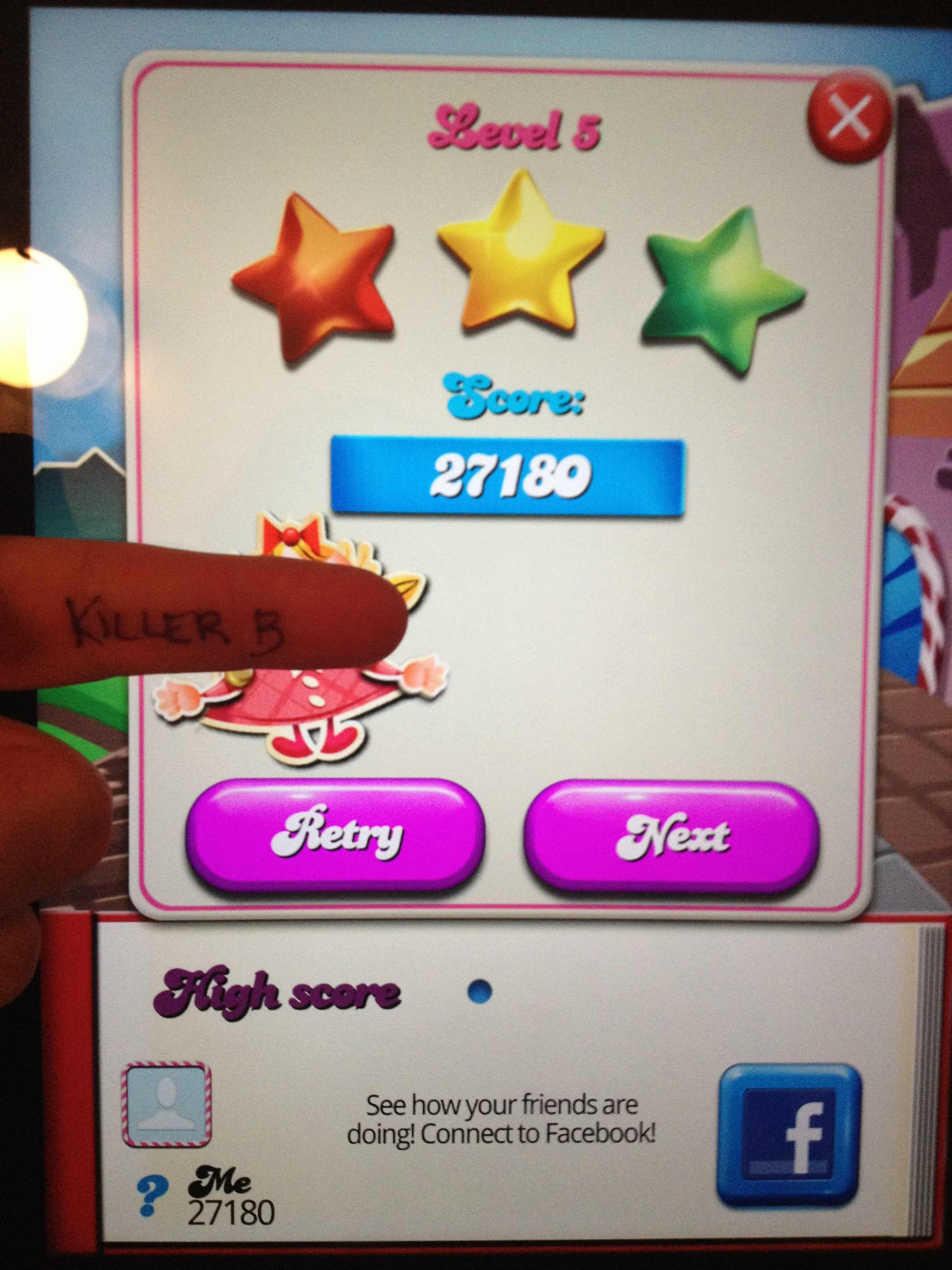 Candy Crush Saga: Level 005 27,180 points