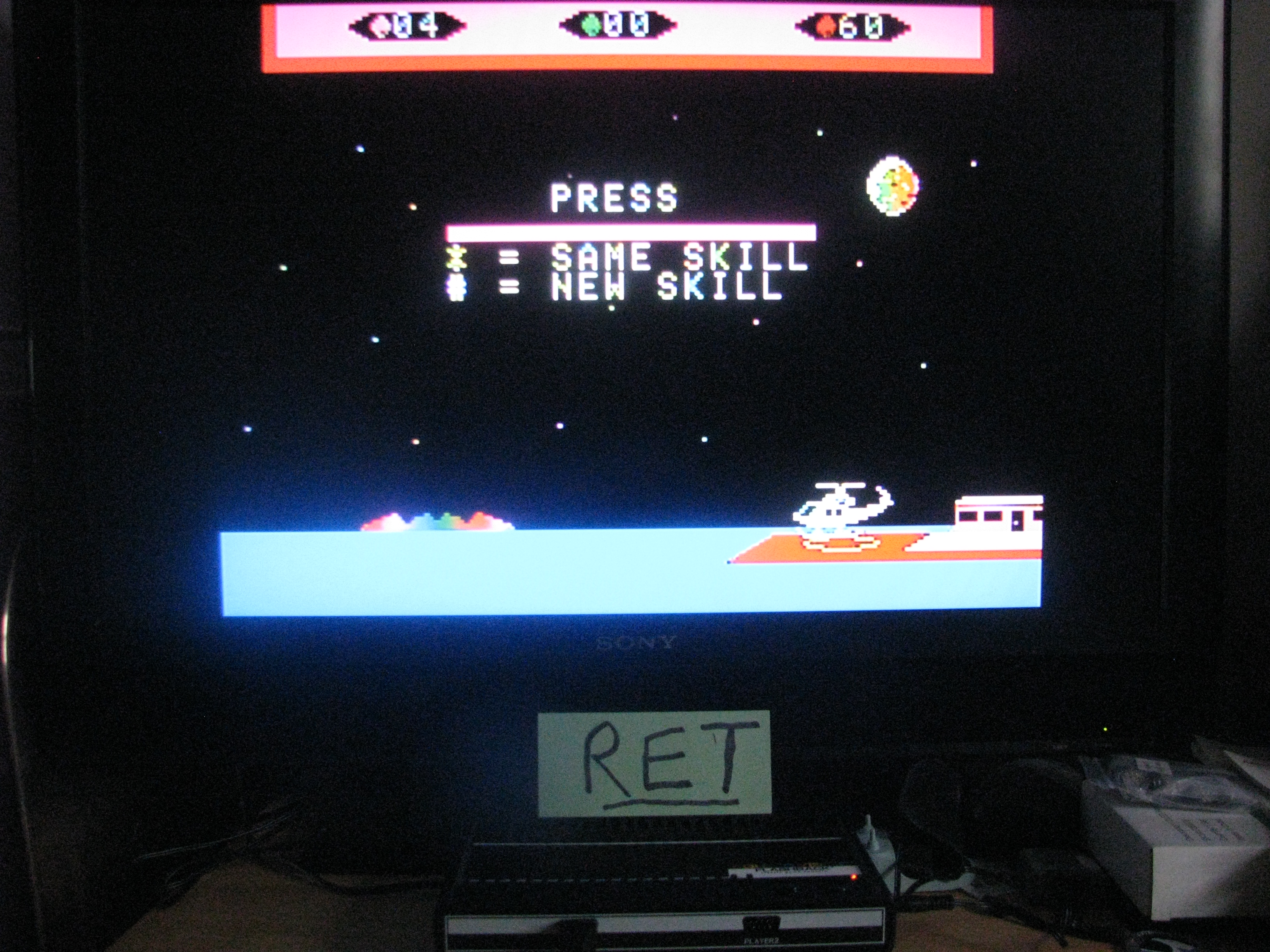 Retroman: Choplifter (Colecovision Flashback) 60 points on 2014-11-08 08:00:45