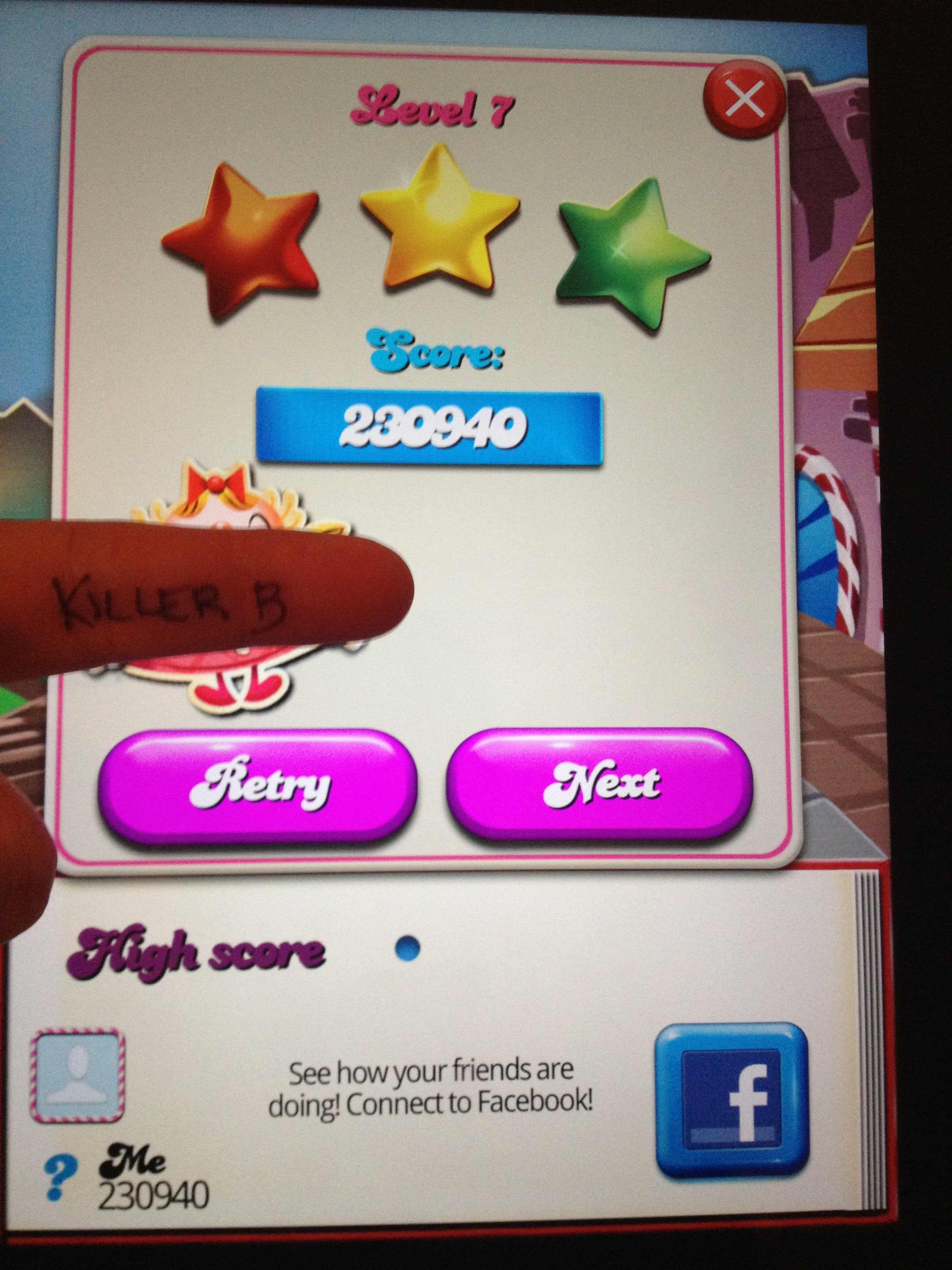 Candy Crush Saga: Level 007 230,940 points