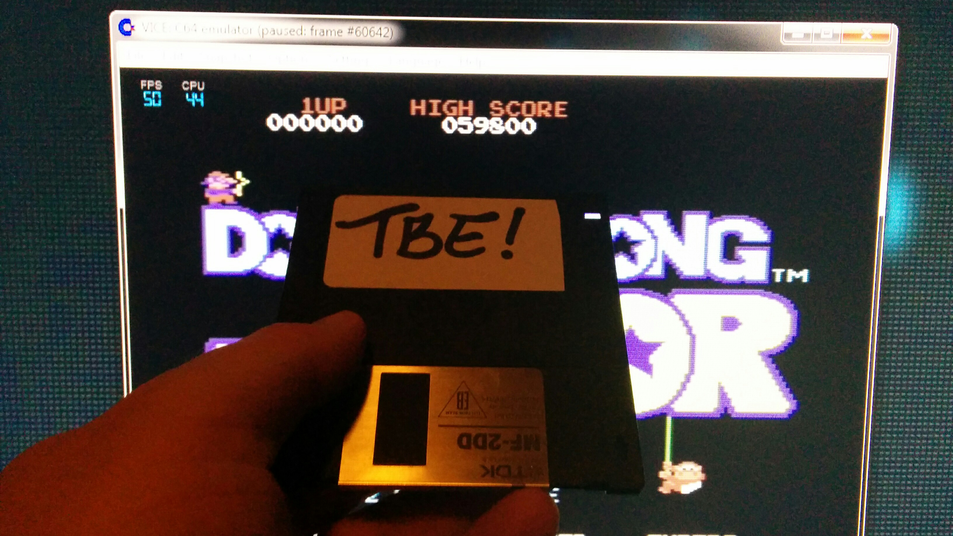 Sixx: Donkey Kong Junior: Standard (Commodore 64 Emulated) 59,800 points on 2014-11-09 17:14:14