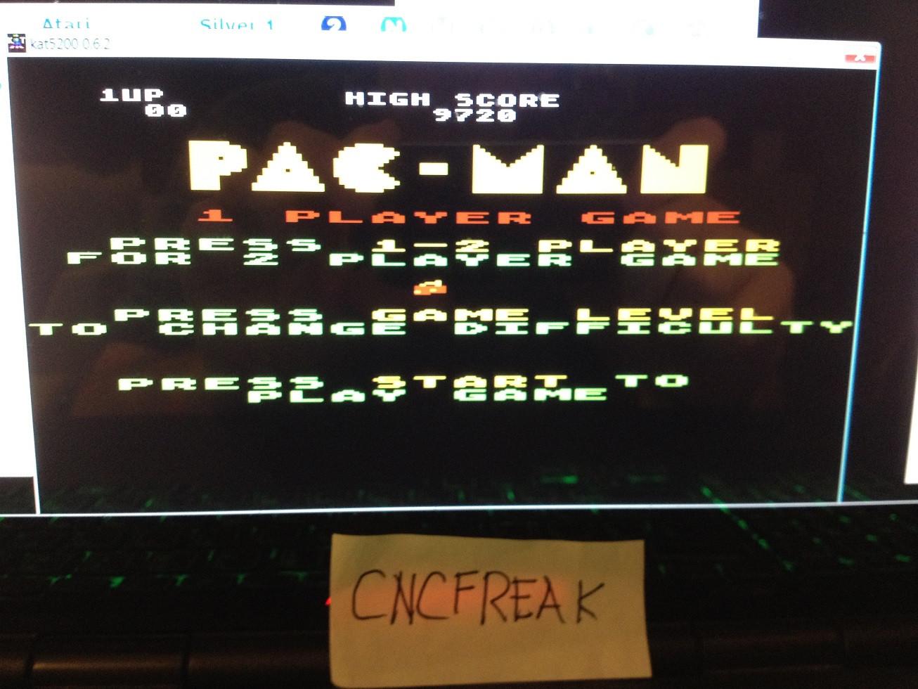 Pac-Man: Cherries Start 9,720 points