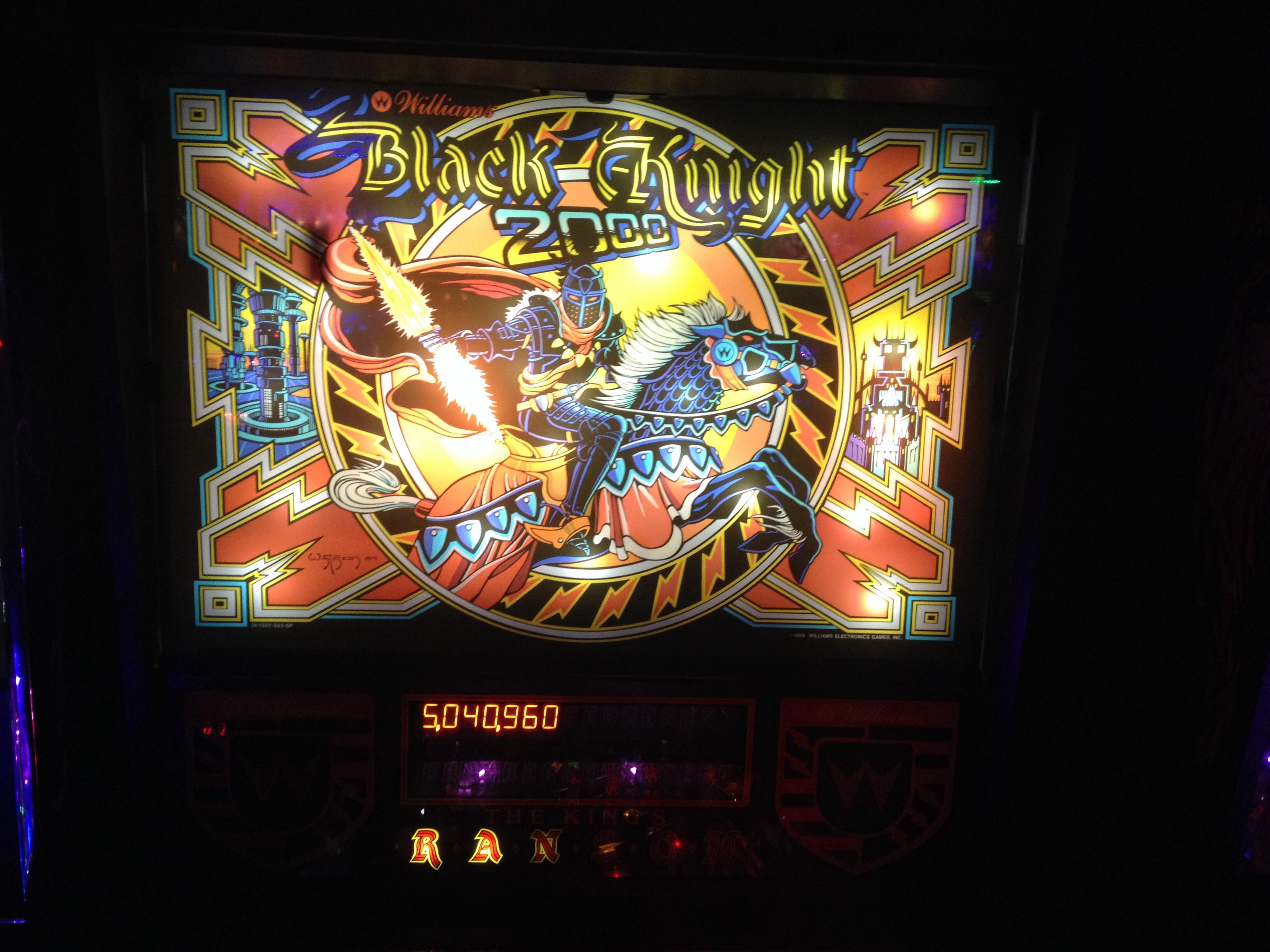FosterAMF: Black Knight 2000 (Pinball: 3 Balls) 5,040,960 points on 2014-11-11 18:03:14