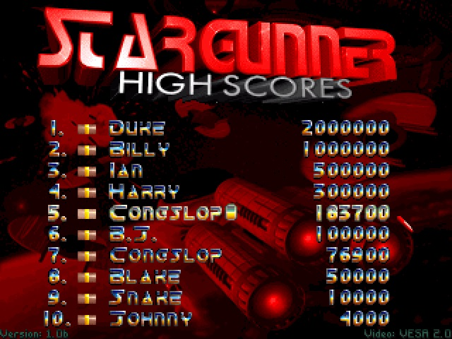 Congslop: Stargunner (PC) 183,700 points on 2014-11-12 04:19:28
