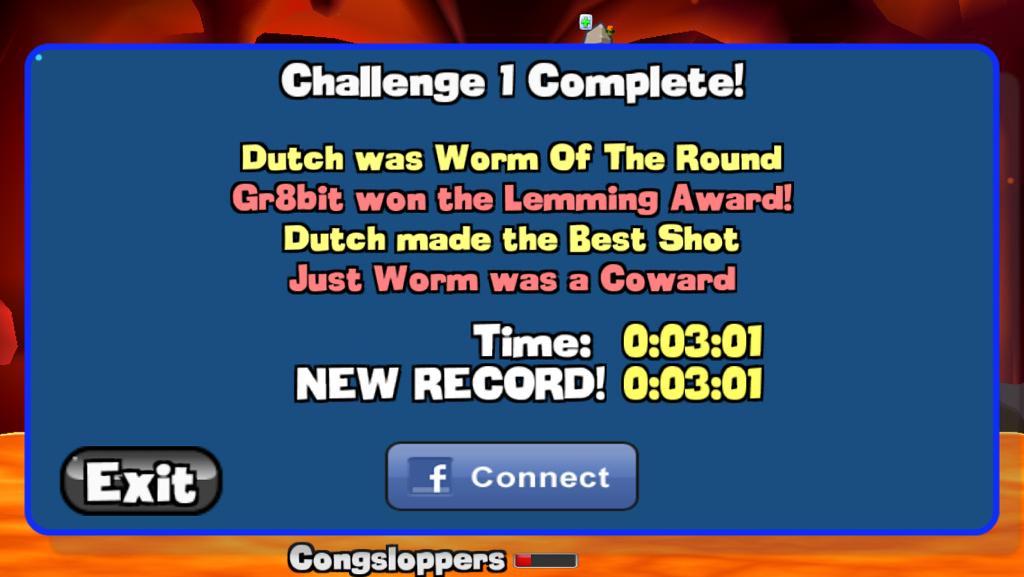 Worms: Challenge 1 time of 0:03:01