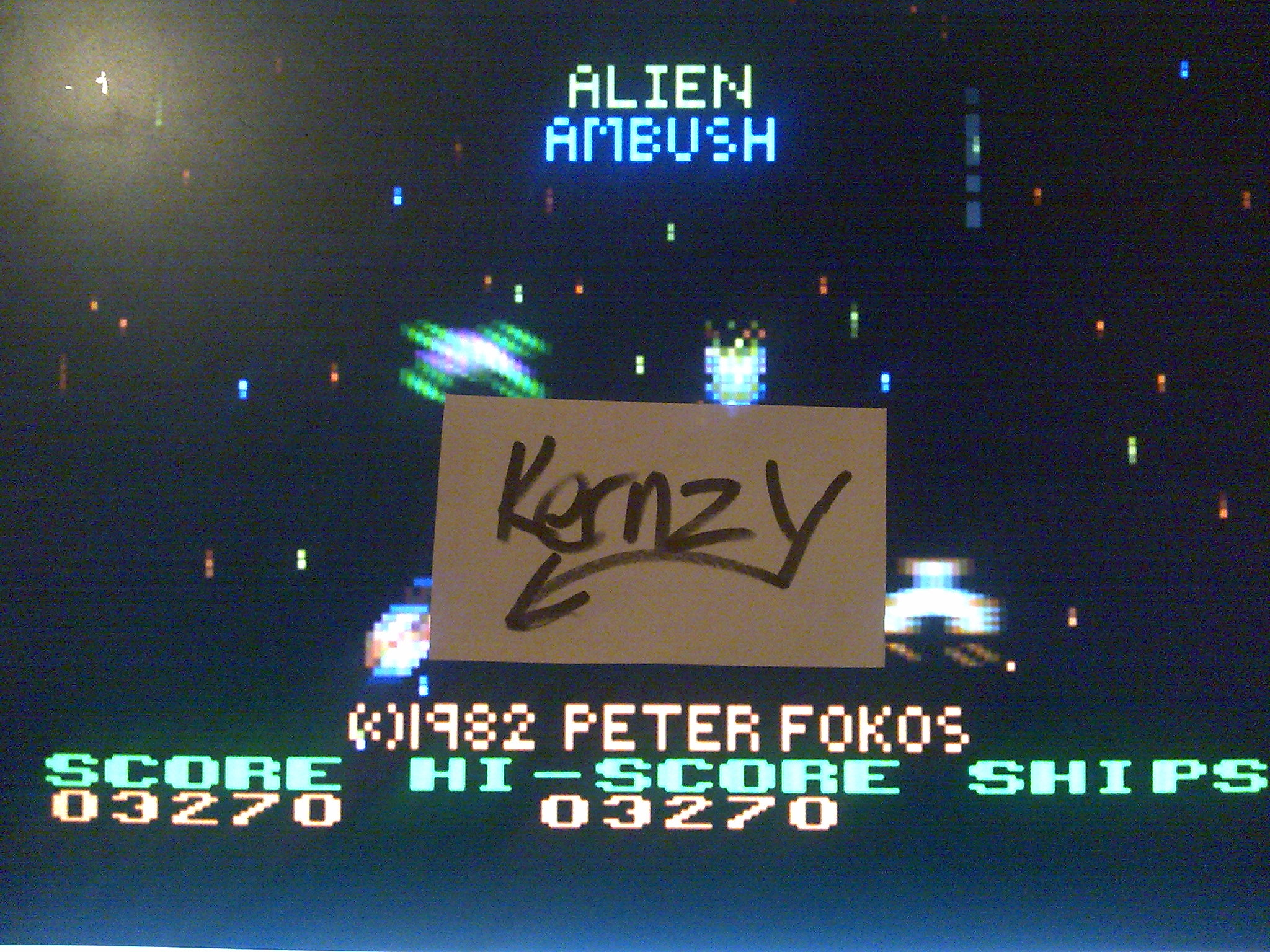 kernzy: Alien Ambush (Atari 400/800/XL/XE Emulated) 3,270 points on 2014-11-12 06:18:24