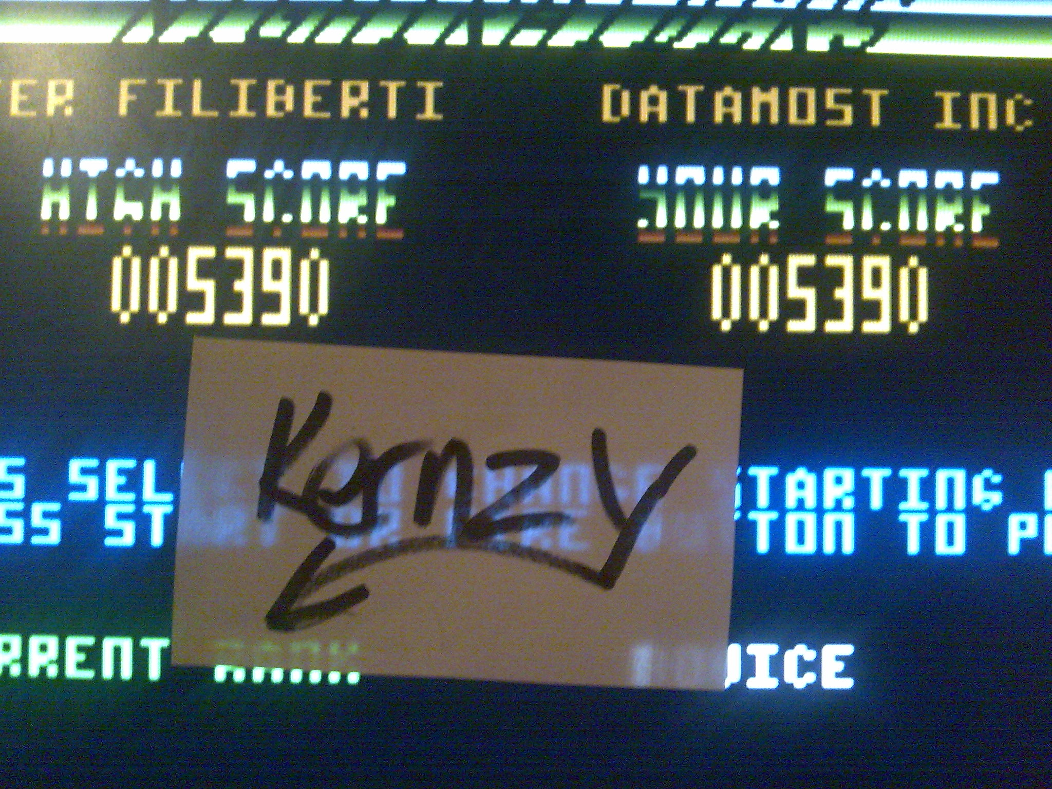 kernzy: Nightraiders (Atari 400/800/XL/XE Emulated) 5,390 points on 2014-11-12 06:21:58