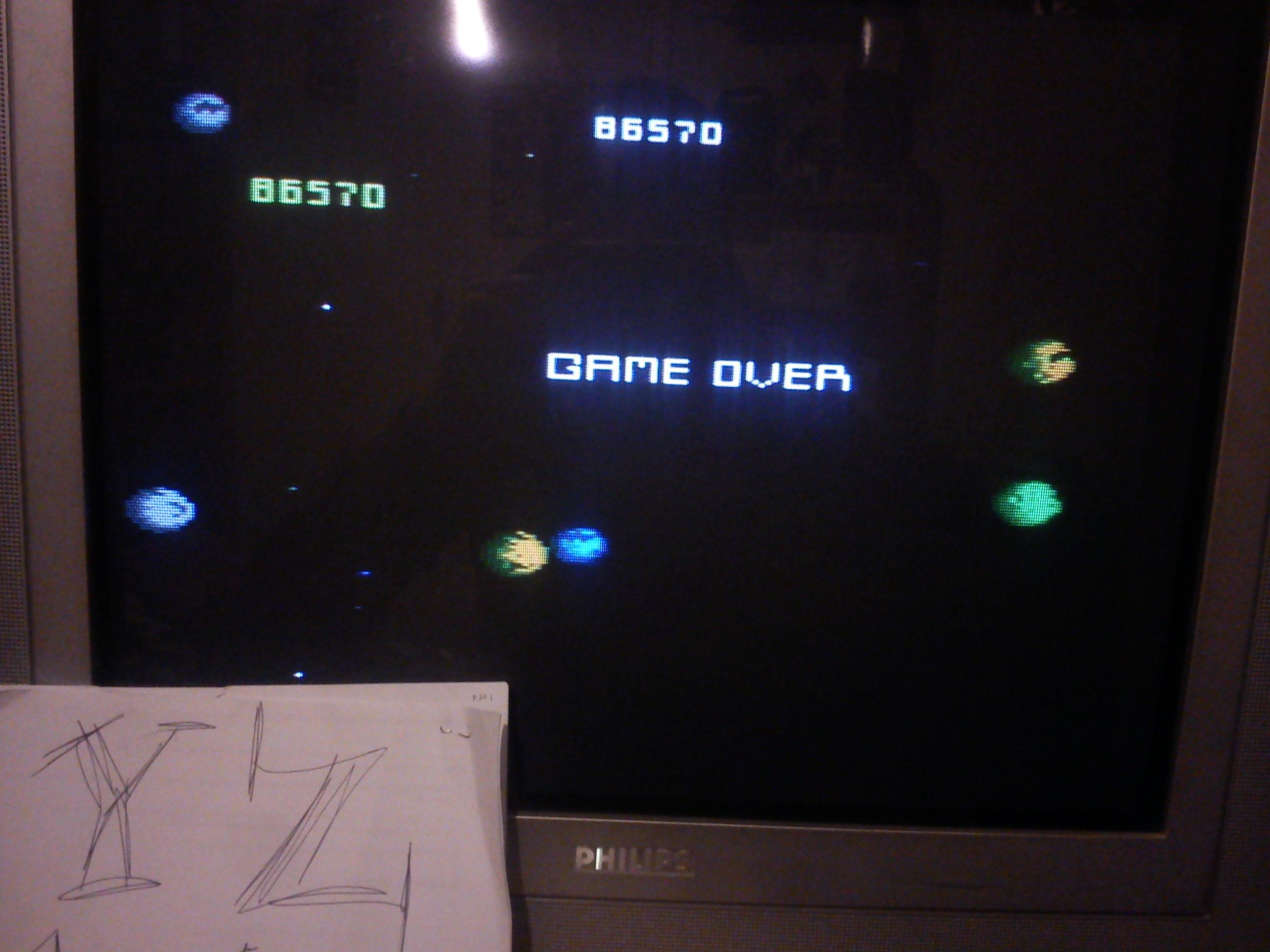 Fr0st: Asteroids: Novice (Atari 7800) 86,570 points on 2014-11-12 12:22:43