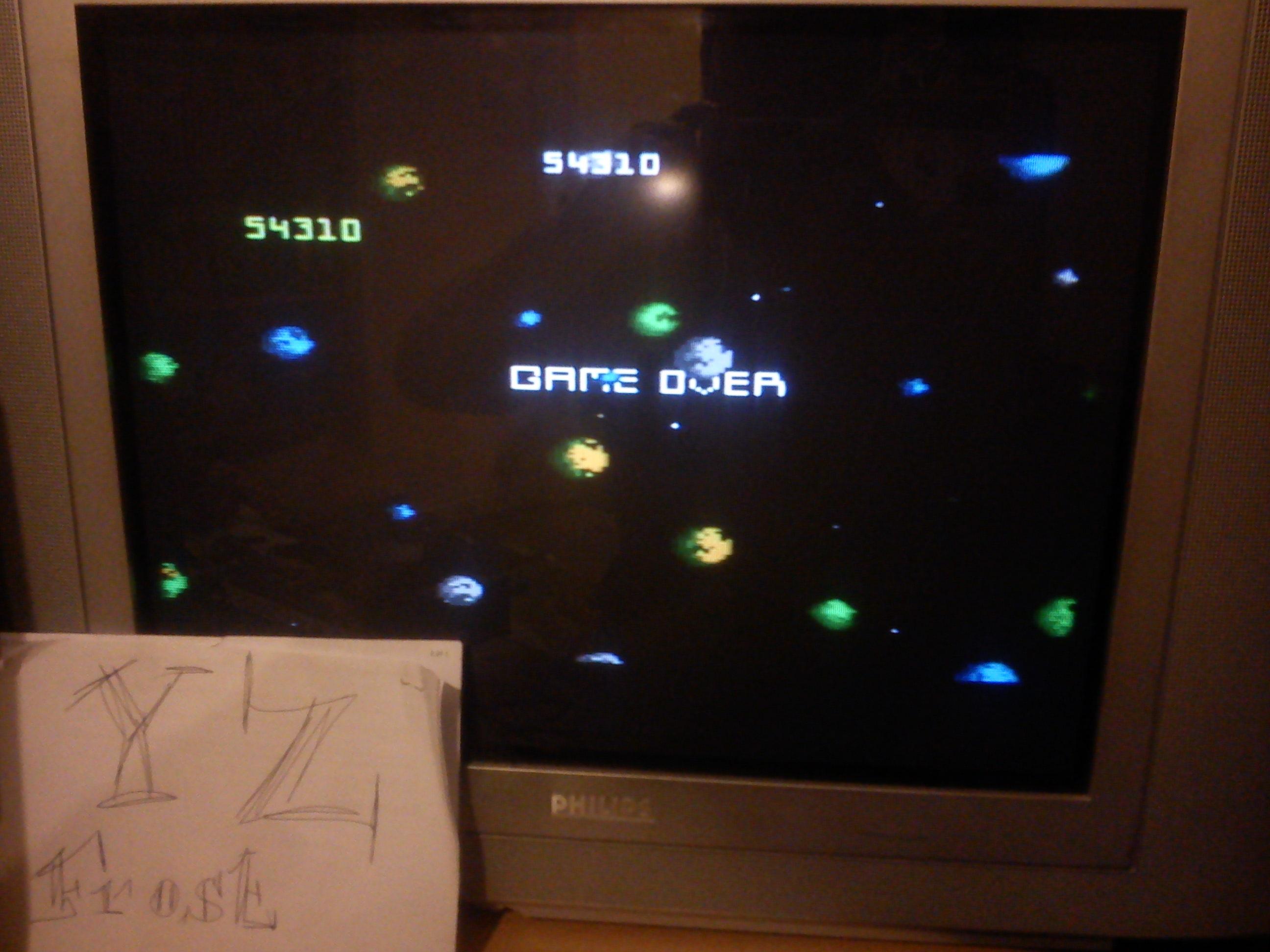 Asteroids: Intermediate 54,310 points