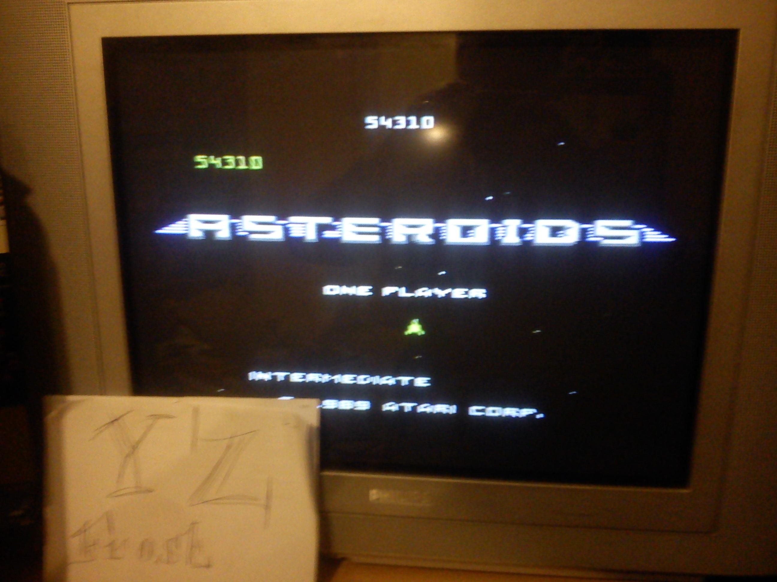 Fr0st: Asteroids: Intermediate (Atari 7800) 54,310 points on 2014-11-12 12:39:44