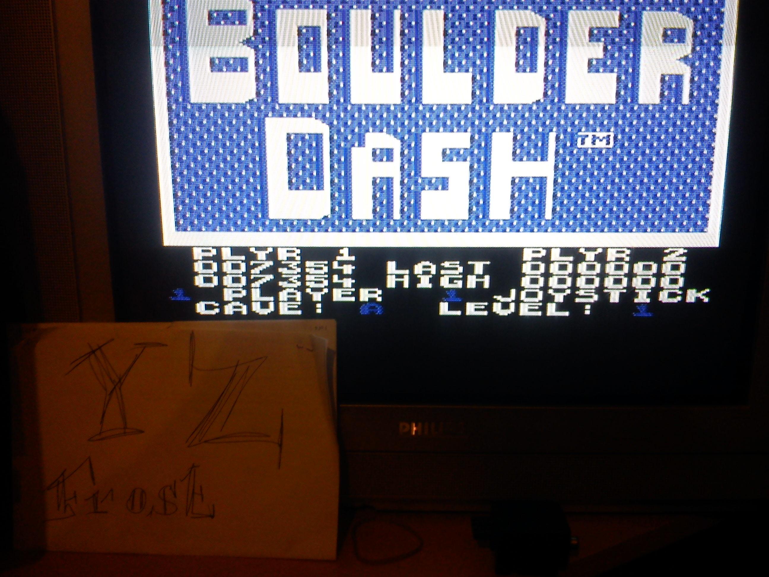Boulder Dash 7,354 points