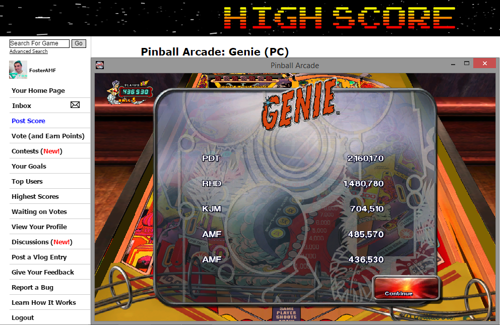 FosterAMF: Pinball Arcade: Genie (PC) 485,570 points on 2014-11-12 15:48:57
