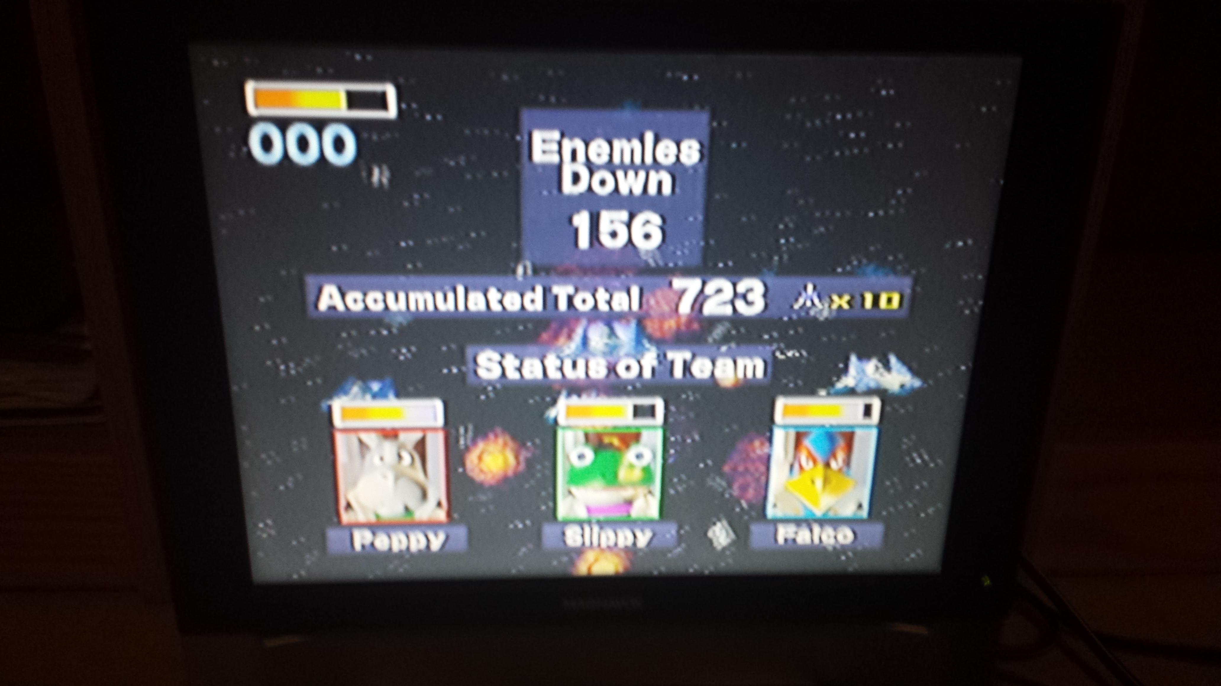 Star Fox 64: Bolse  156 points