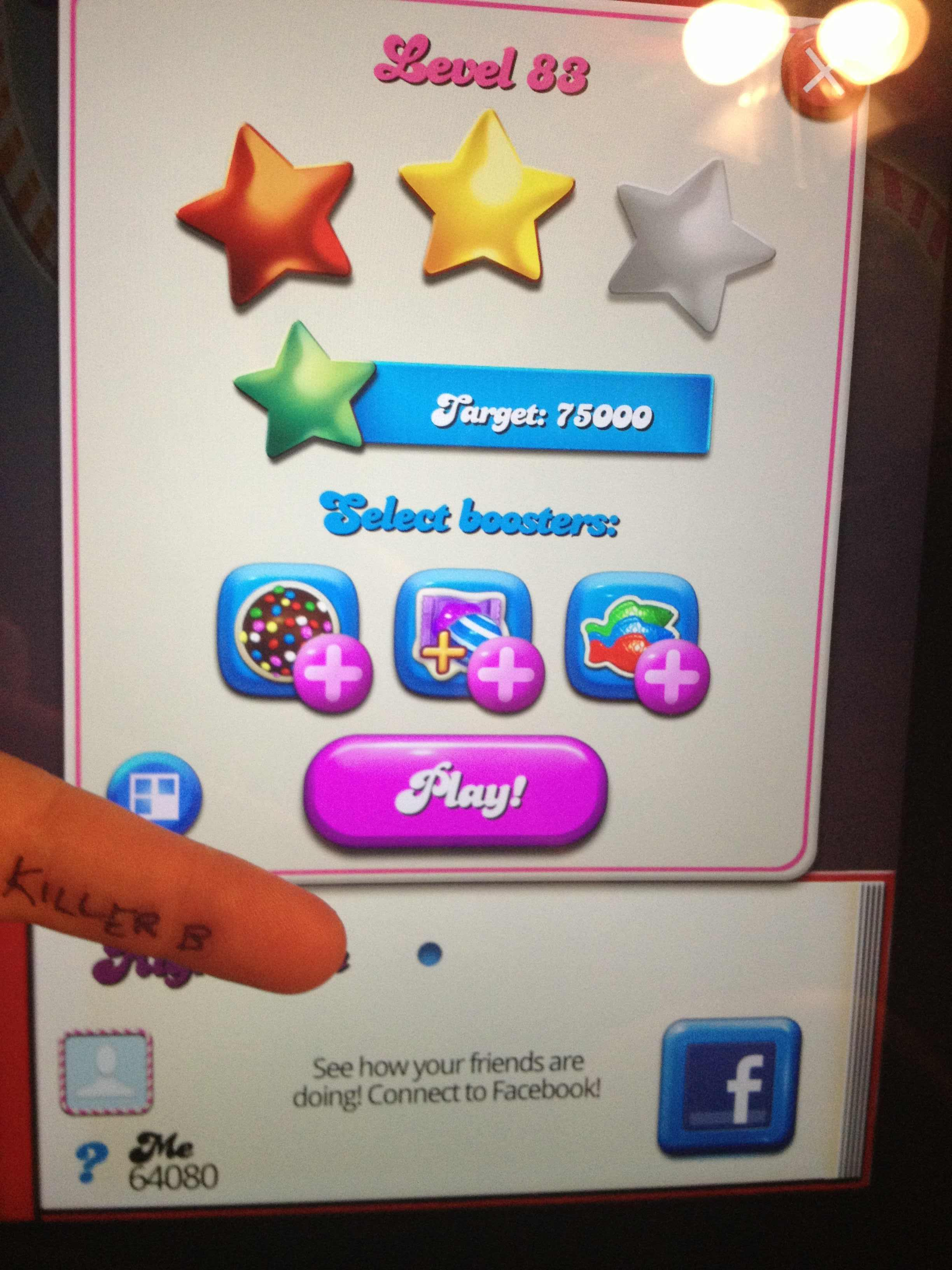 KillerB: Candy Crush Saga: Level 083 (iOS) 64,080 points on 2013-10-14 23:15:38