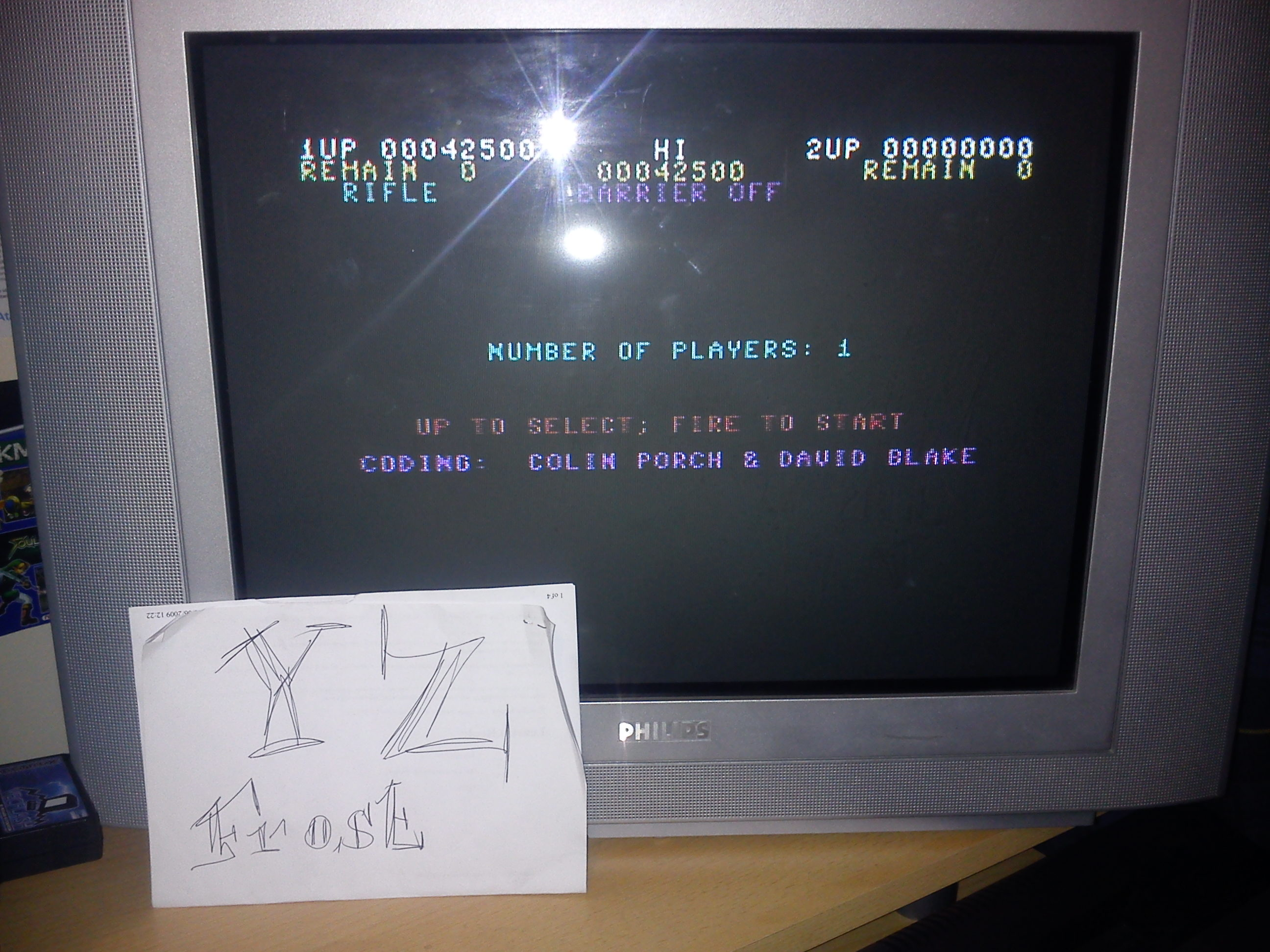 Fr0st: Gryzor (Commodore 64) 42,500 points on 2014-11-13 18:36:54
