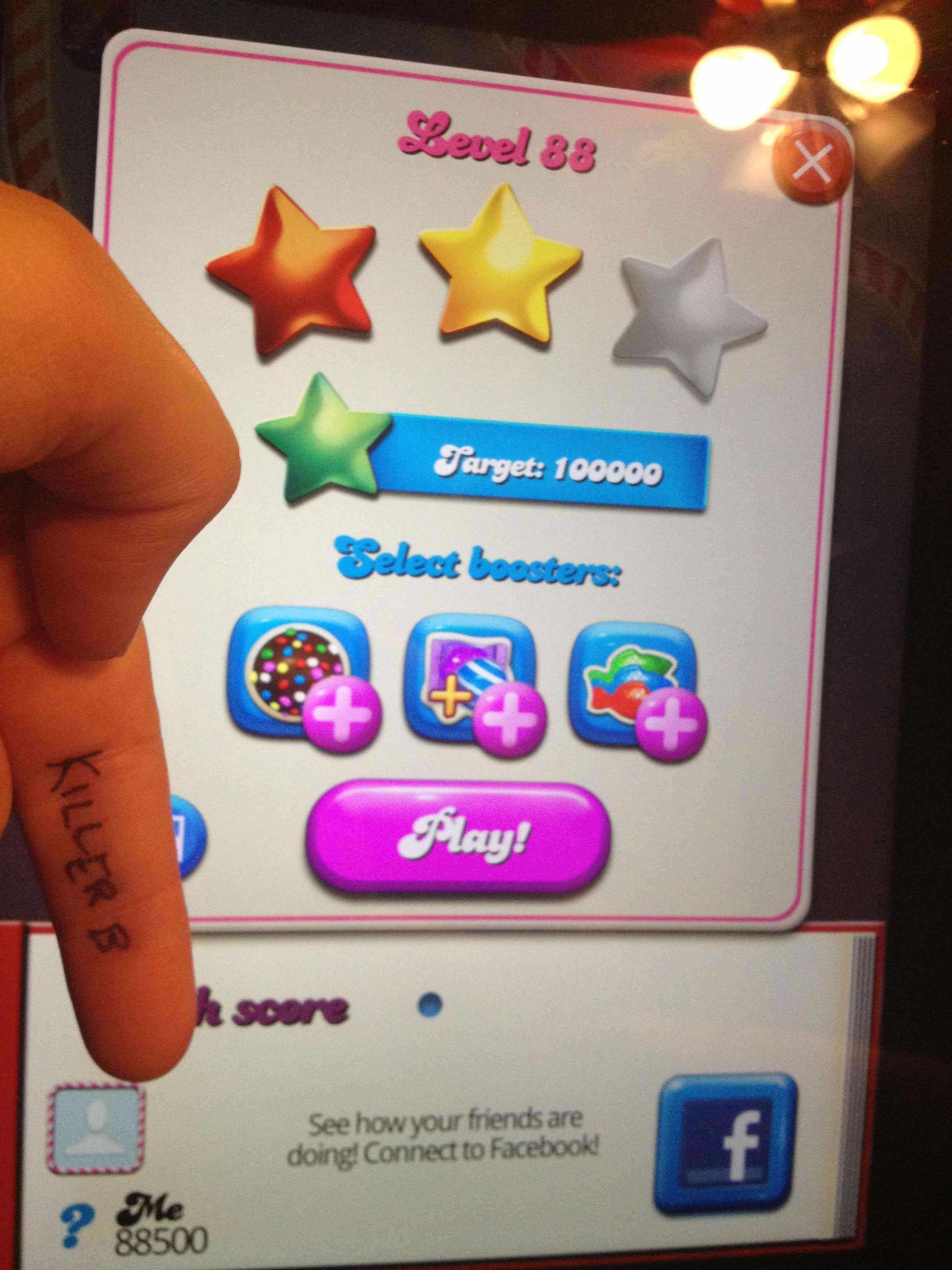 KillerB: Candy Crush Saga: Level 088 (iOS) 88,500 points on 2013-10-14 23:19:12