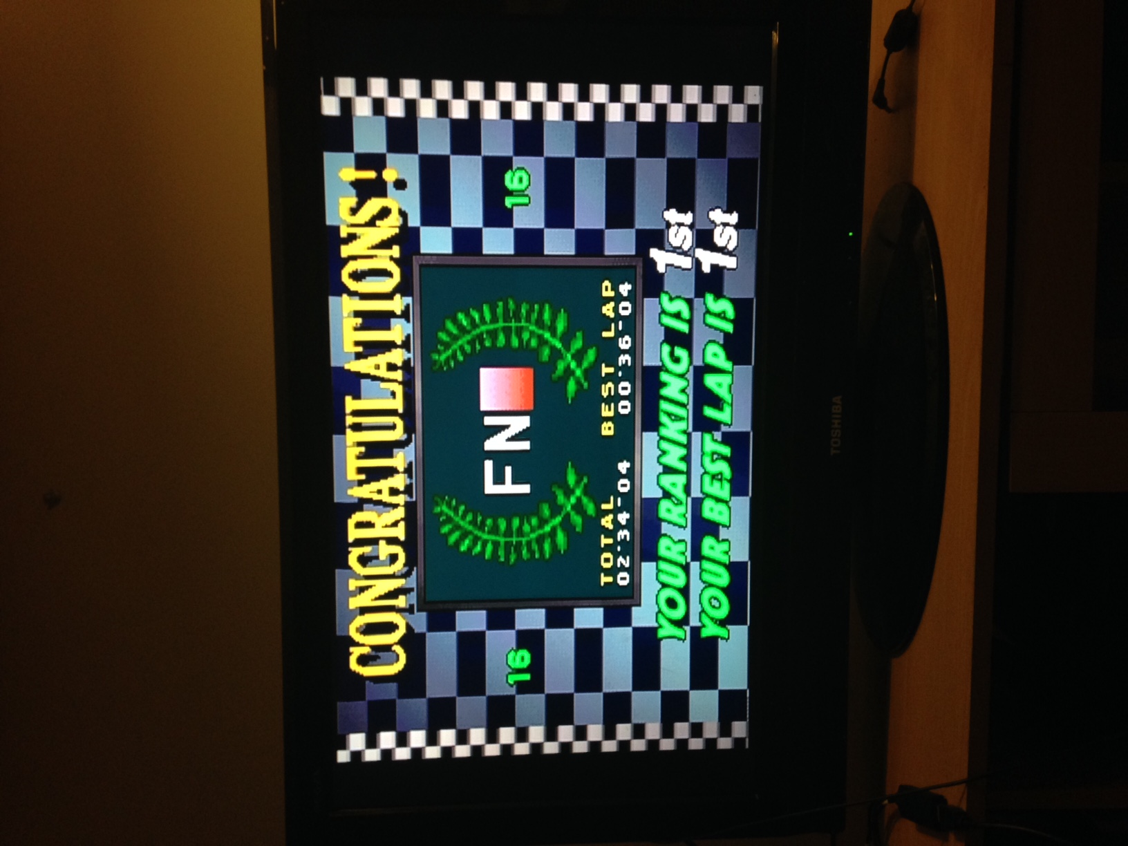 mechafatnick: Virtua Racing [Big Forest/Arcade/Total Time] (Sega Saturn) 0:02:34.04 points on 2014-11-14 01:27:14