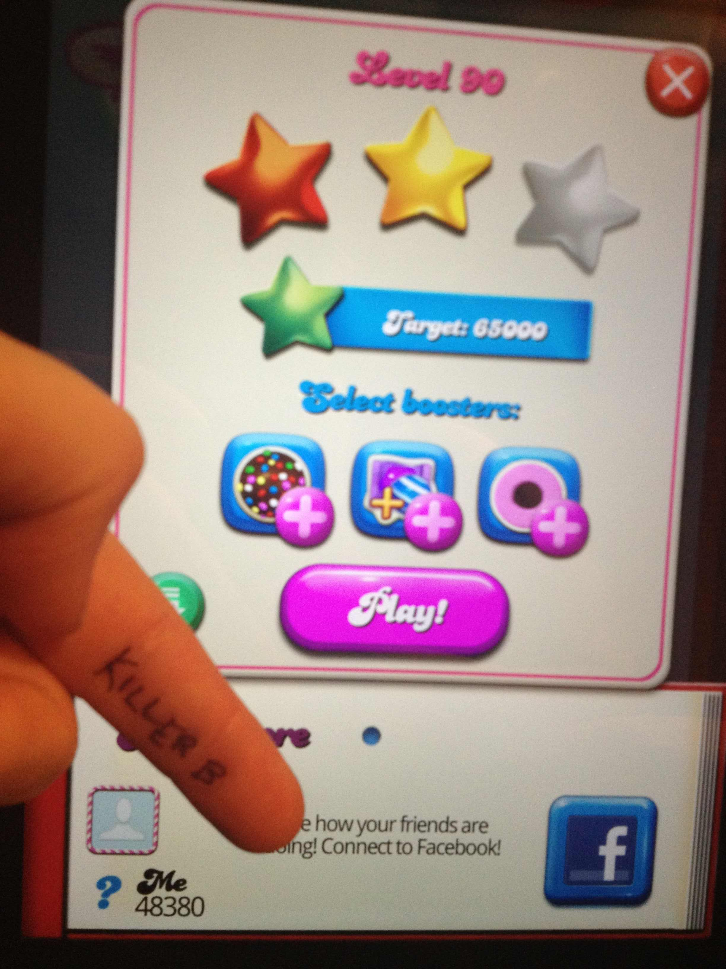 KillerB: Candy Crush Saga: Level 090 (iOS) 48,380 points on 2013-10-14 23:20:32