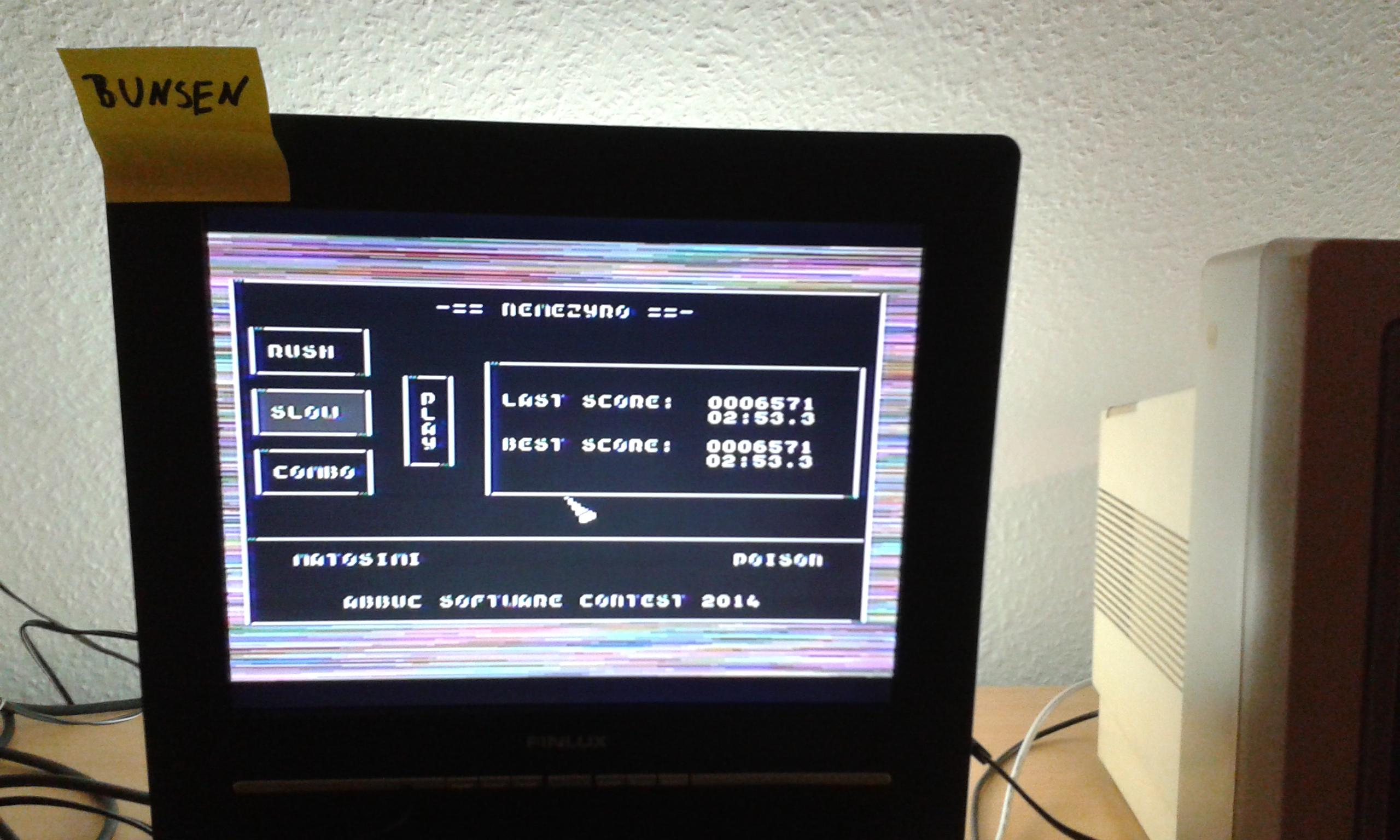Bunsen: Nemezyro: Slow (Atari 400/800/XL/XE) 6,571 points on 2014-11-15 04:21:34