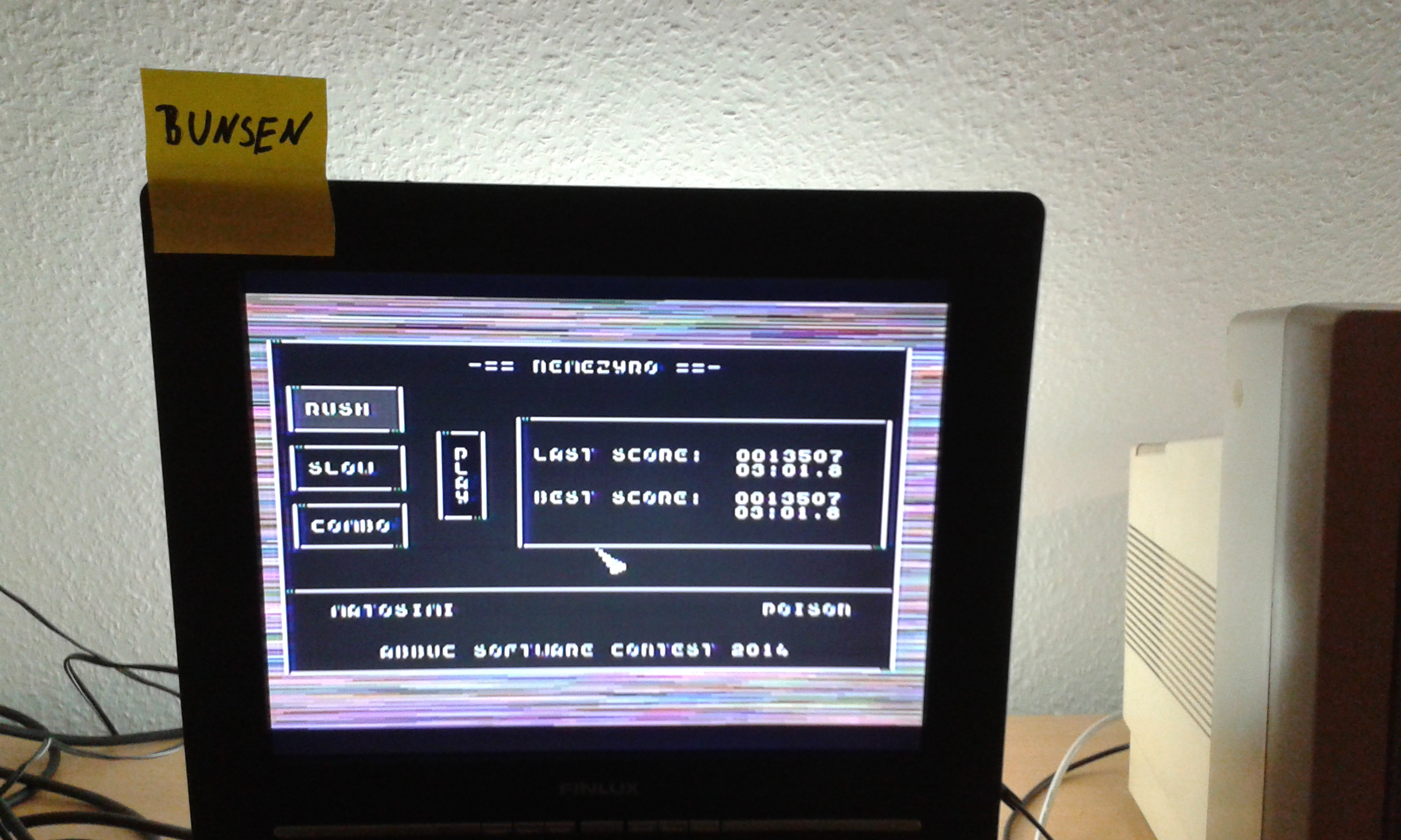 Bunsen: Nemezyro: Rush (Atari 400/800/XL/XE) 13,507 points on 2014-11-15 04:23:18