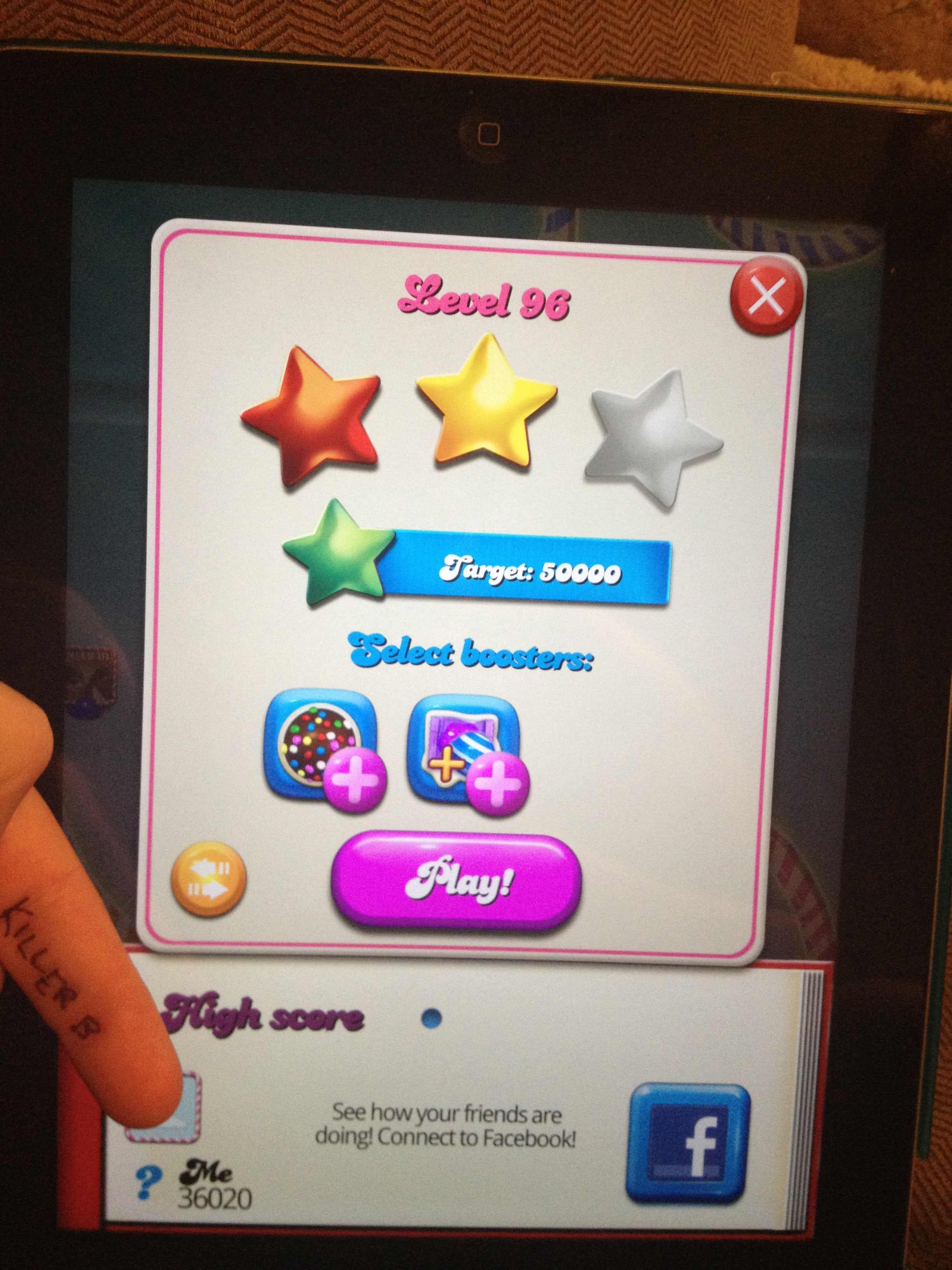 Candy Crush Saga: Level 096 36,020 points
