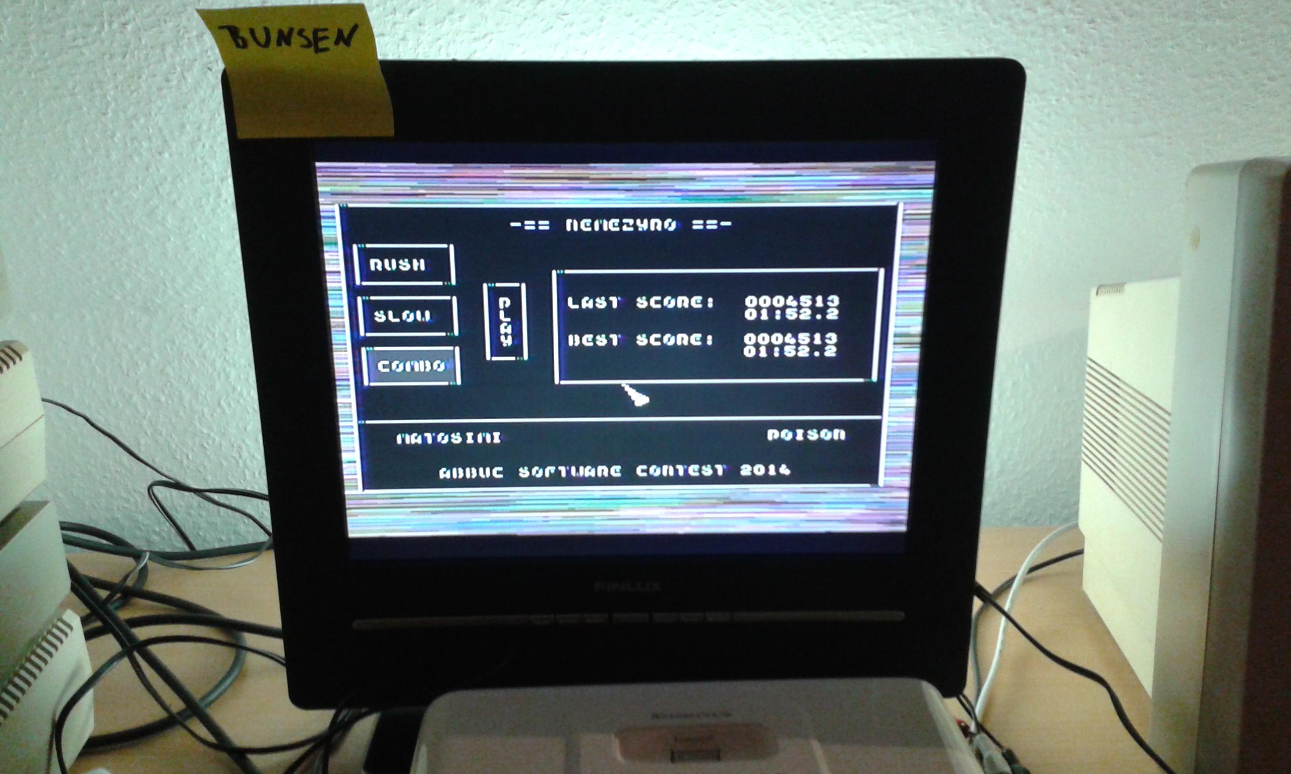 Bunsen: Nemezyro: Combo (Atari 400/800/XL/XE) 4,513 points on 2014-11-15 04:25:07