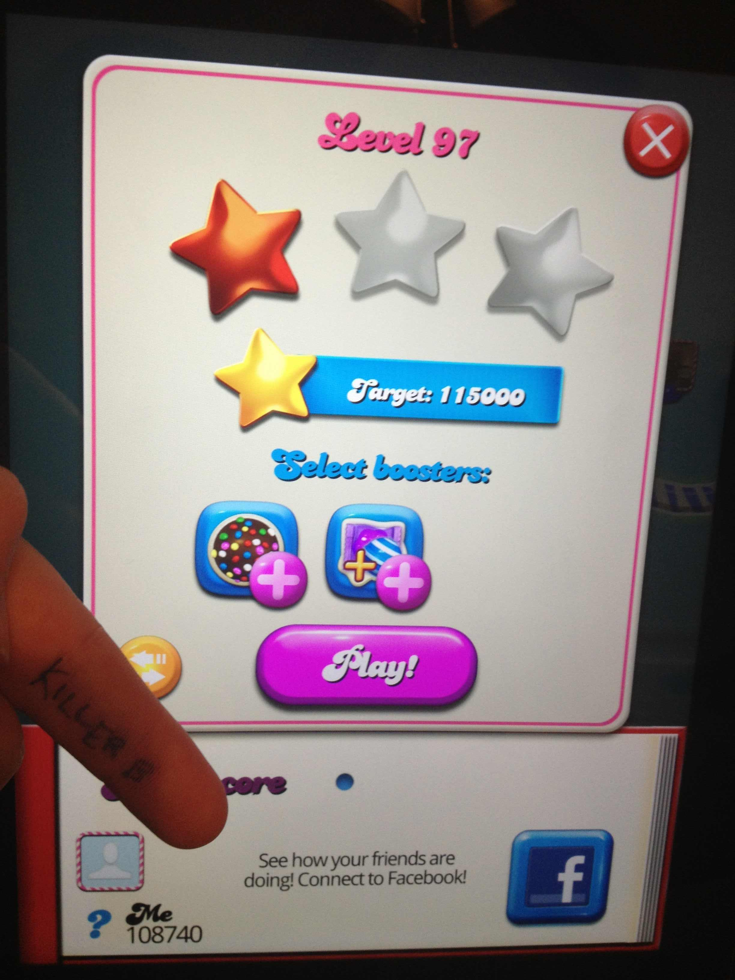Candy Crush Saga: Level 097 108,740 points