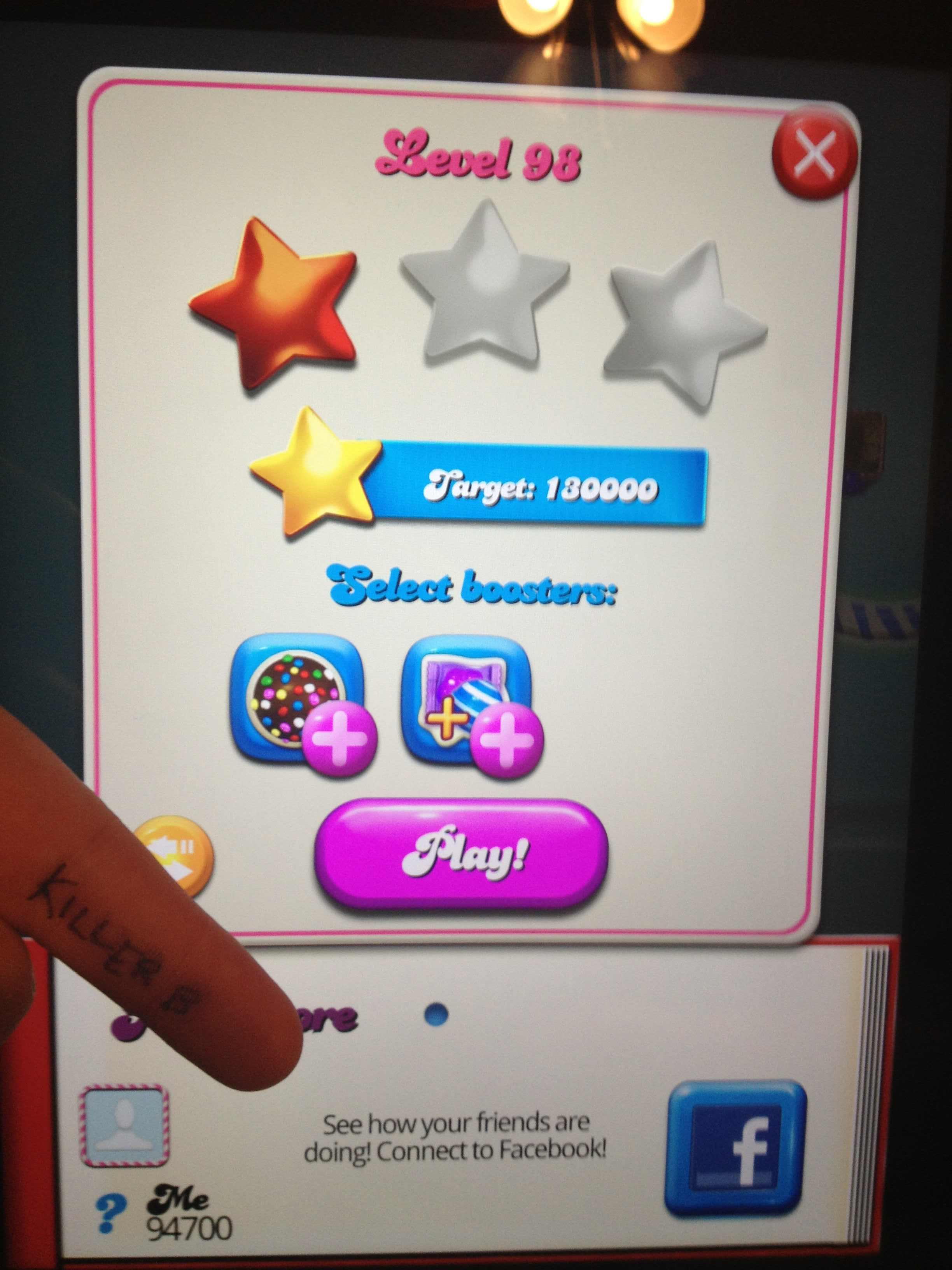 Candy Crush Saga: Level 098 94,700 points
