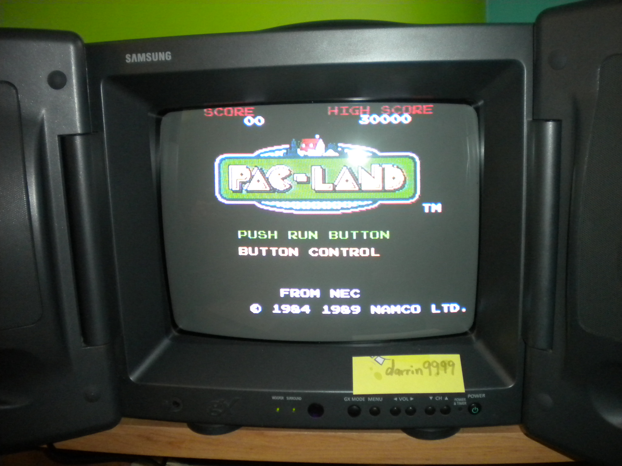 Pac-Land 7,470 points