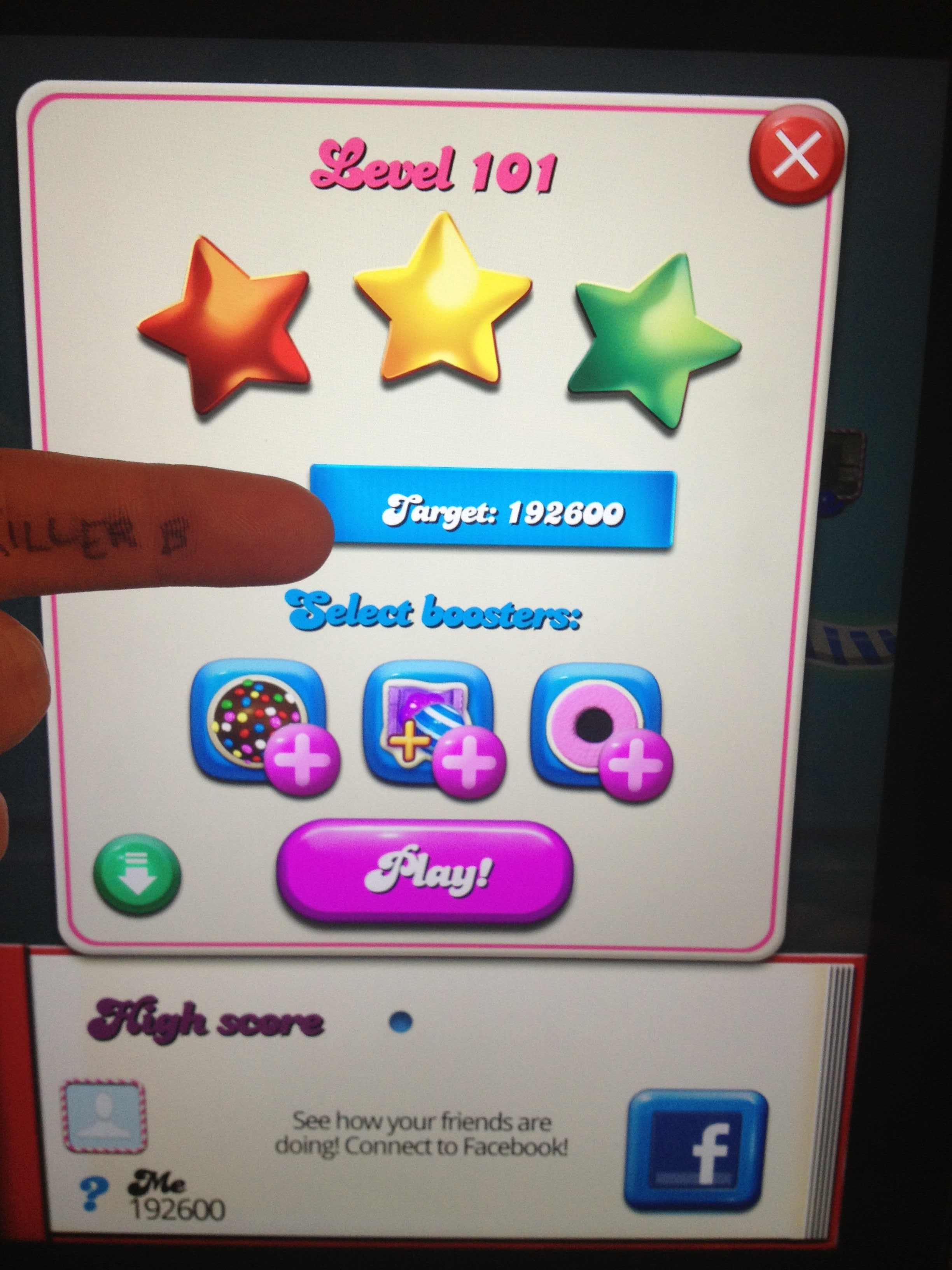Candy Crush Saga: Level 101 192,600 points