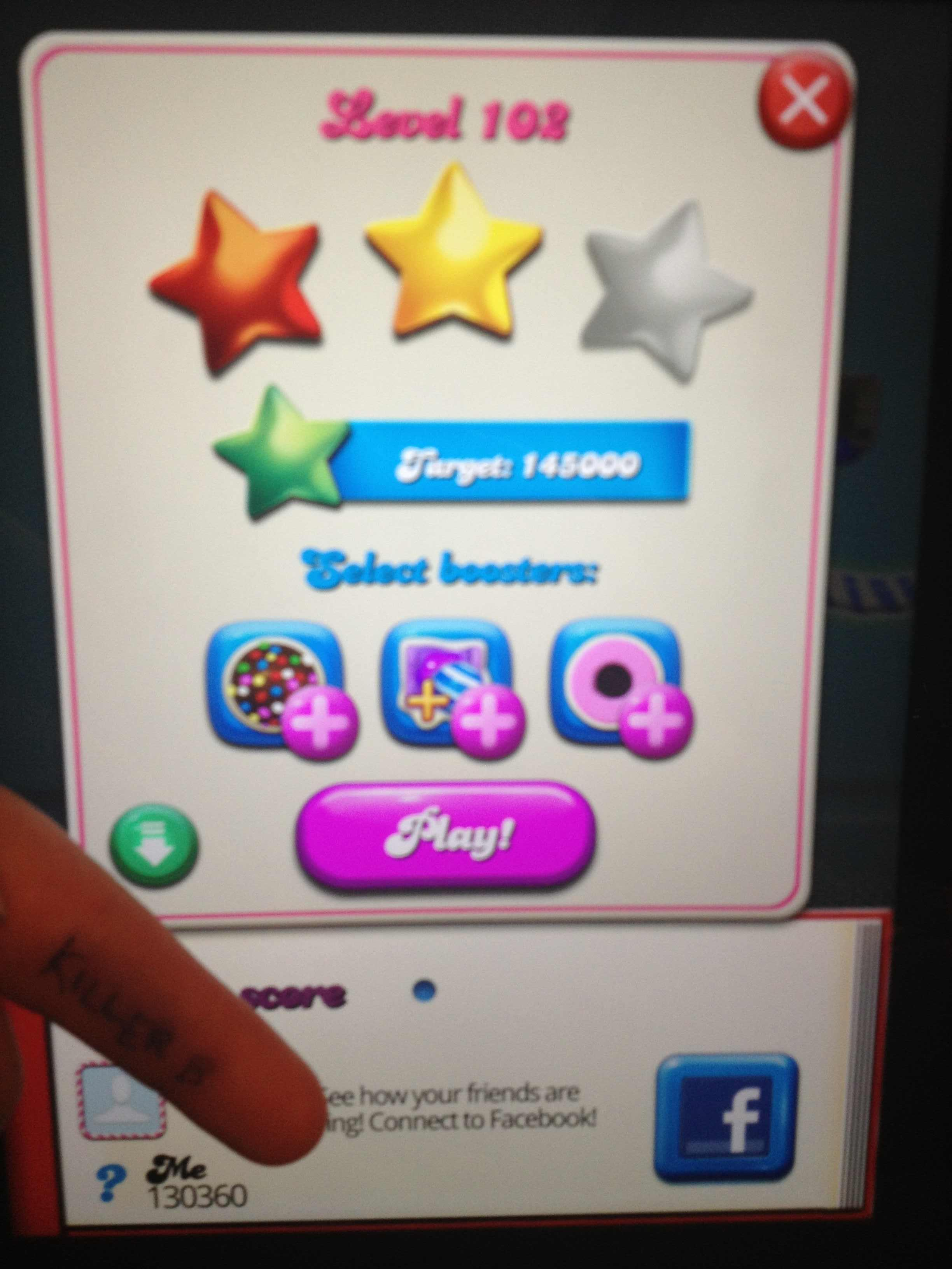 Candy Crush Saga: Level 102 130,360 points