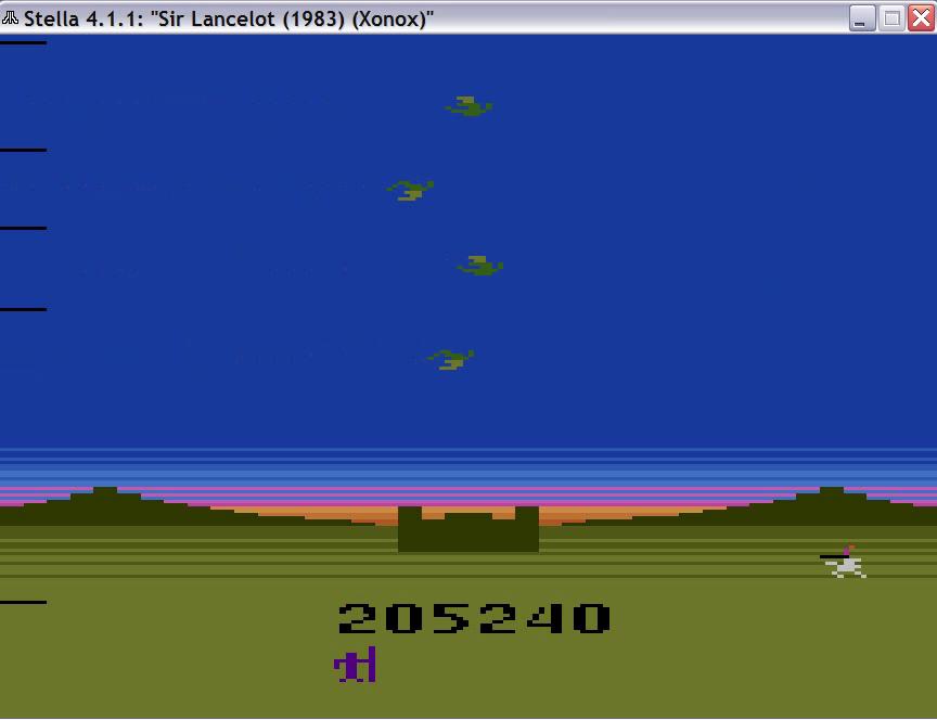 uNi73: Sir Lancelot (Atari 2600 Emulated) 205,240 points on 2014-11-16 07:18:39