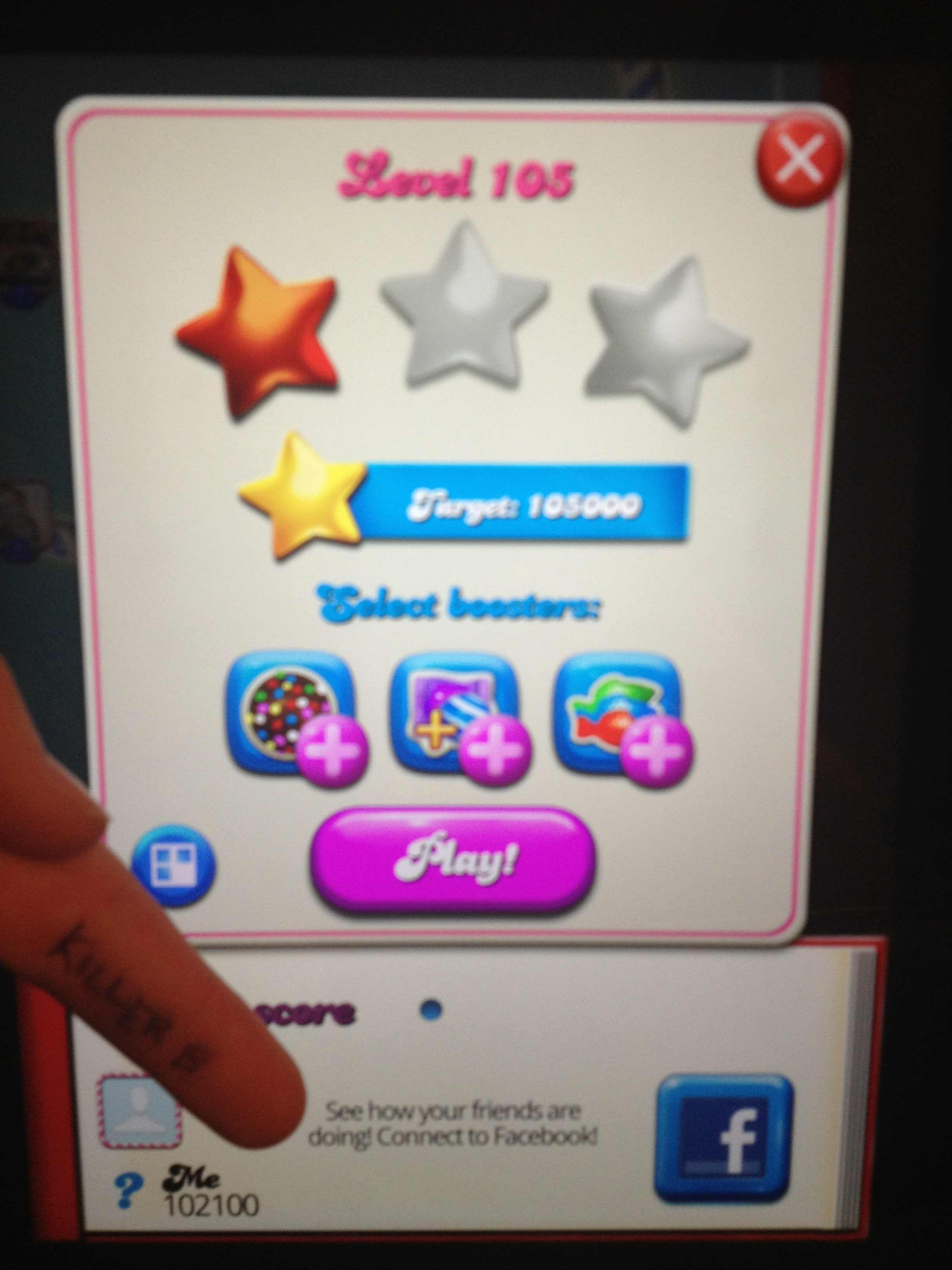 Candy Crush Saga: Level 105 102,100 points