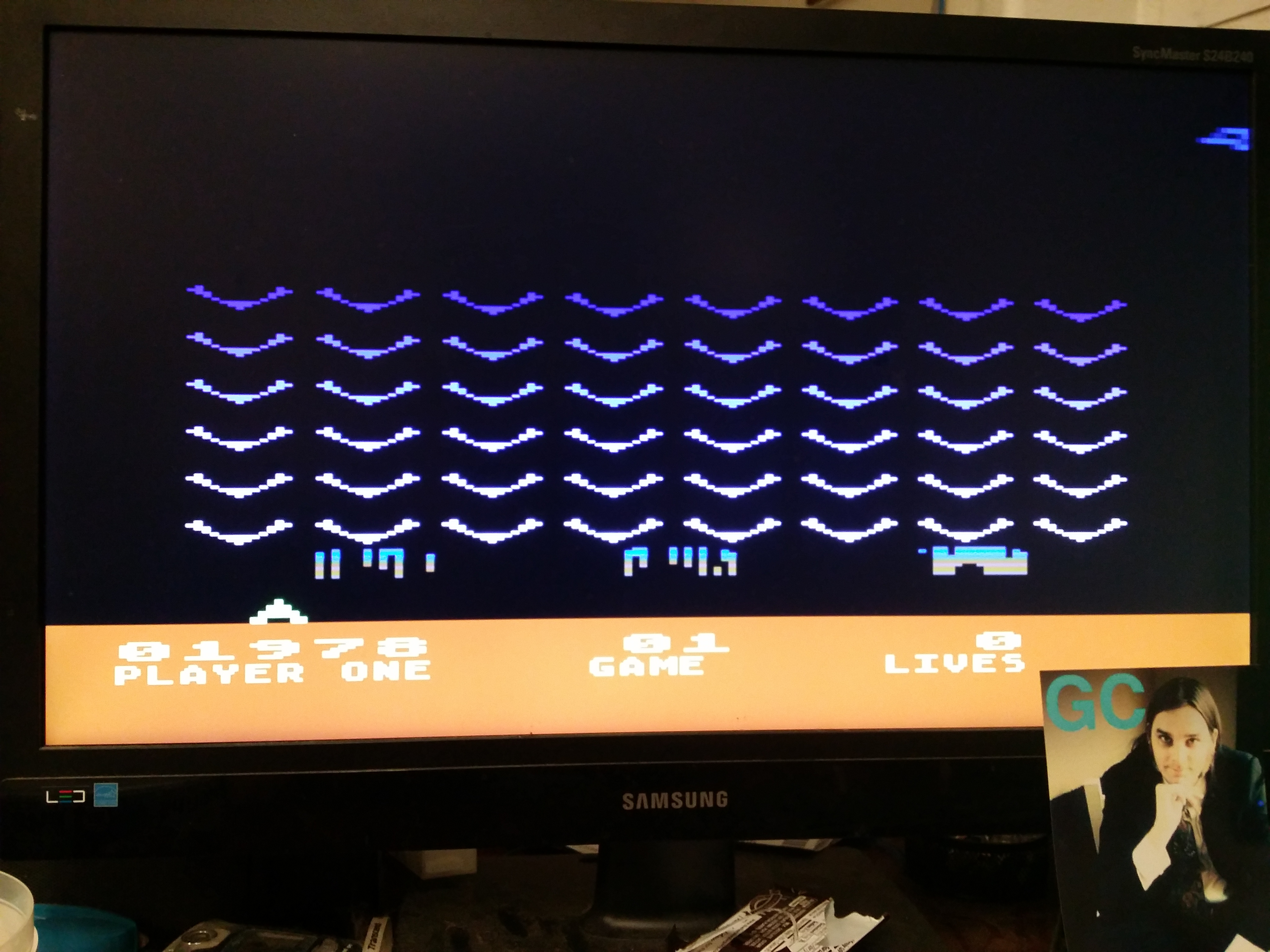 glenncase: Space Invaders: Game 1 (Atari 5200 Emulated) 1,978 points on 2014-11-16 23:14:26