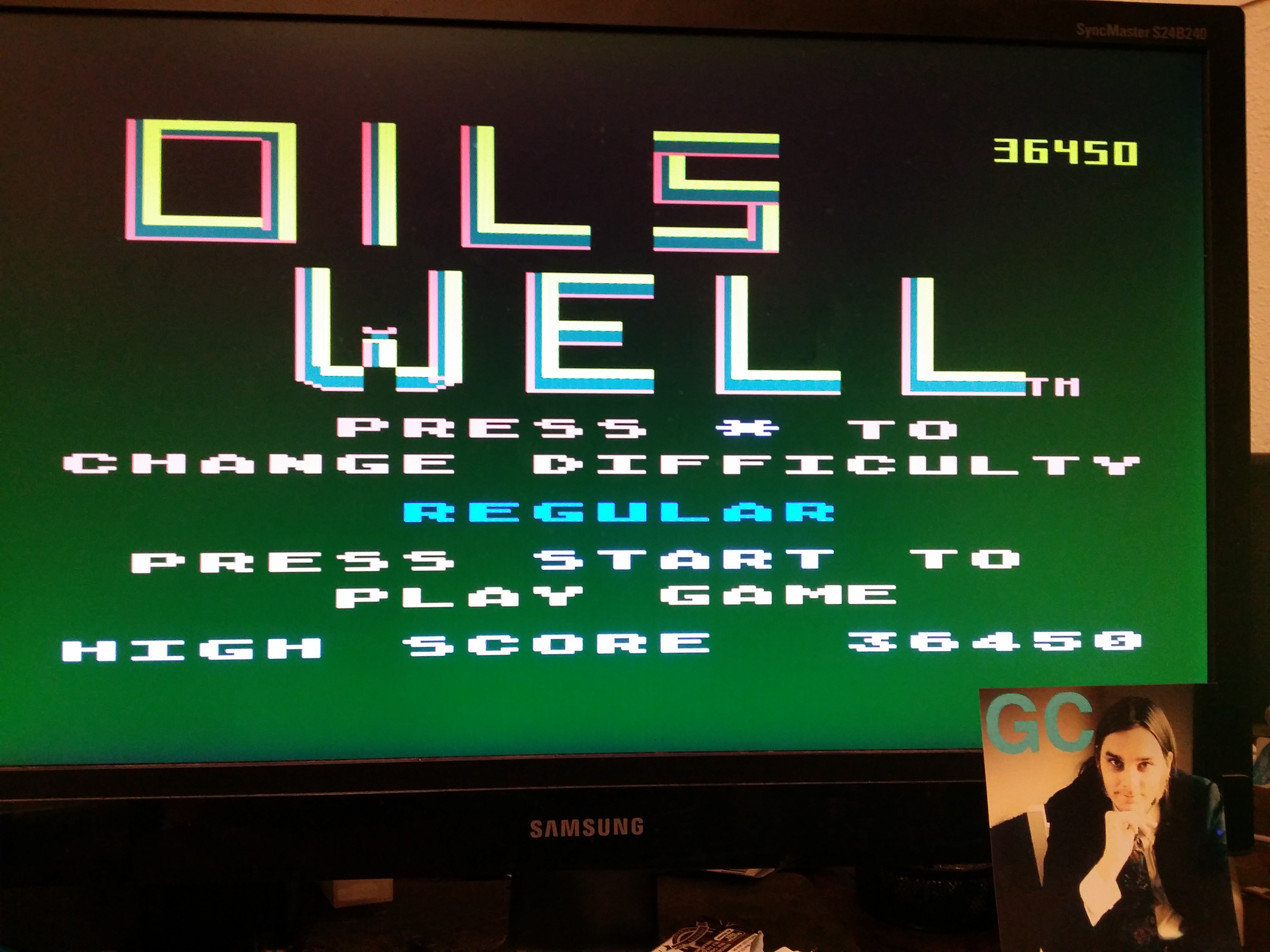 glenncase: Oils Well (Atari 5200 Emulated) 36,450 points on 2014-11-16 23:57:56